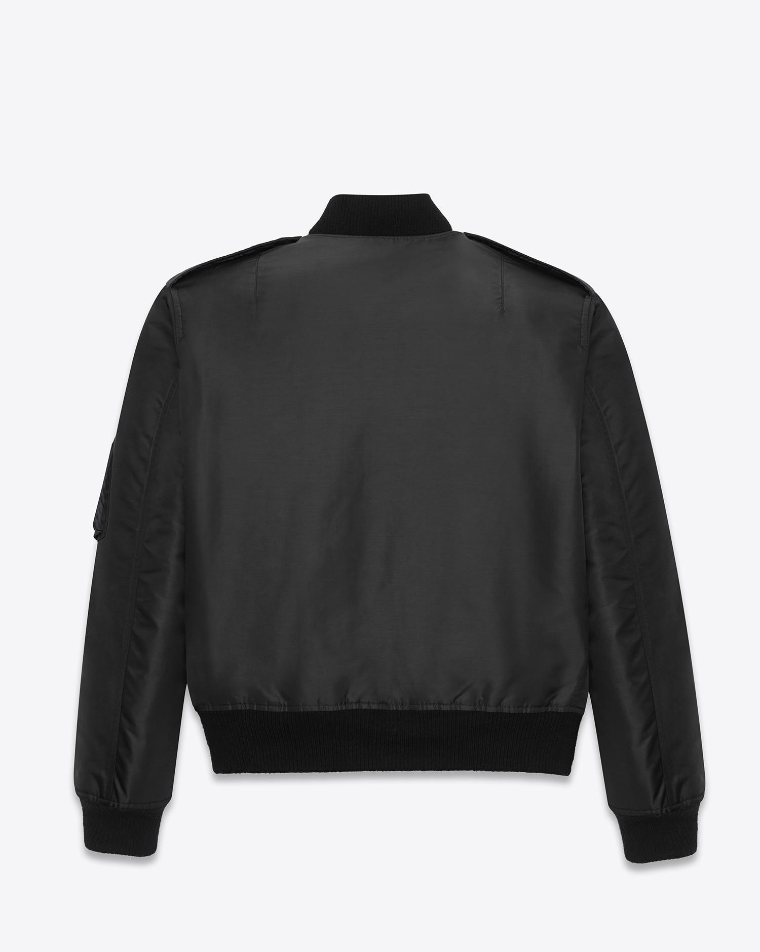756d7c2a13f2 Lyst - Saint Laurent Bomber Jacket In Nylon in Black for Men - Save 13%
