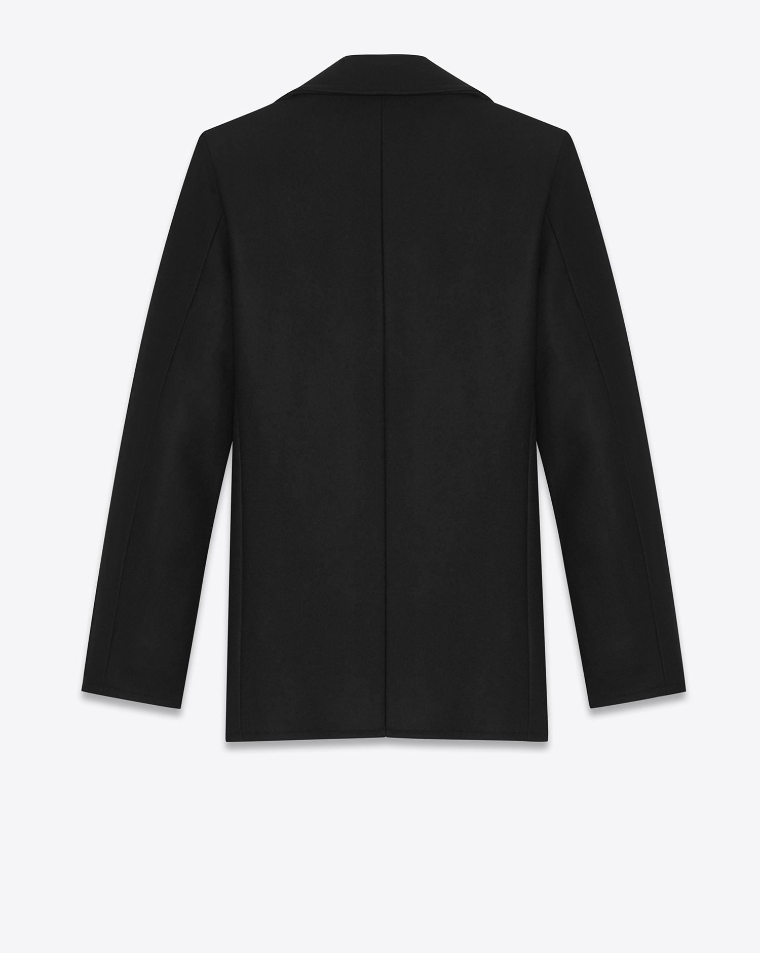 cde1400d0b0 Lyst - Saint Laurent Caban Marin In Black Virgin Wool in Black for Men
