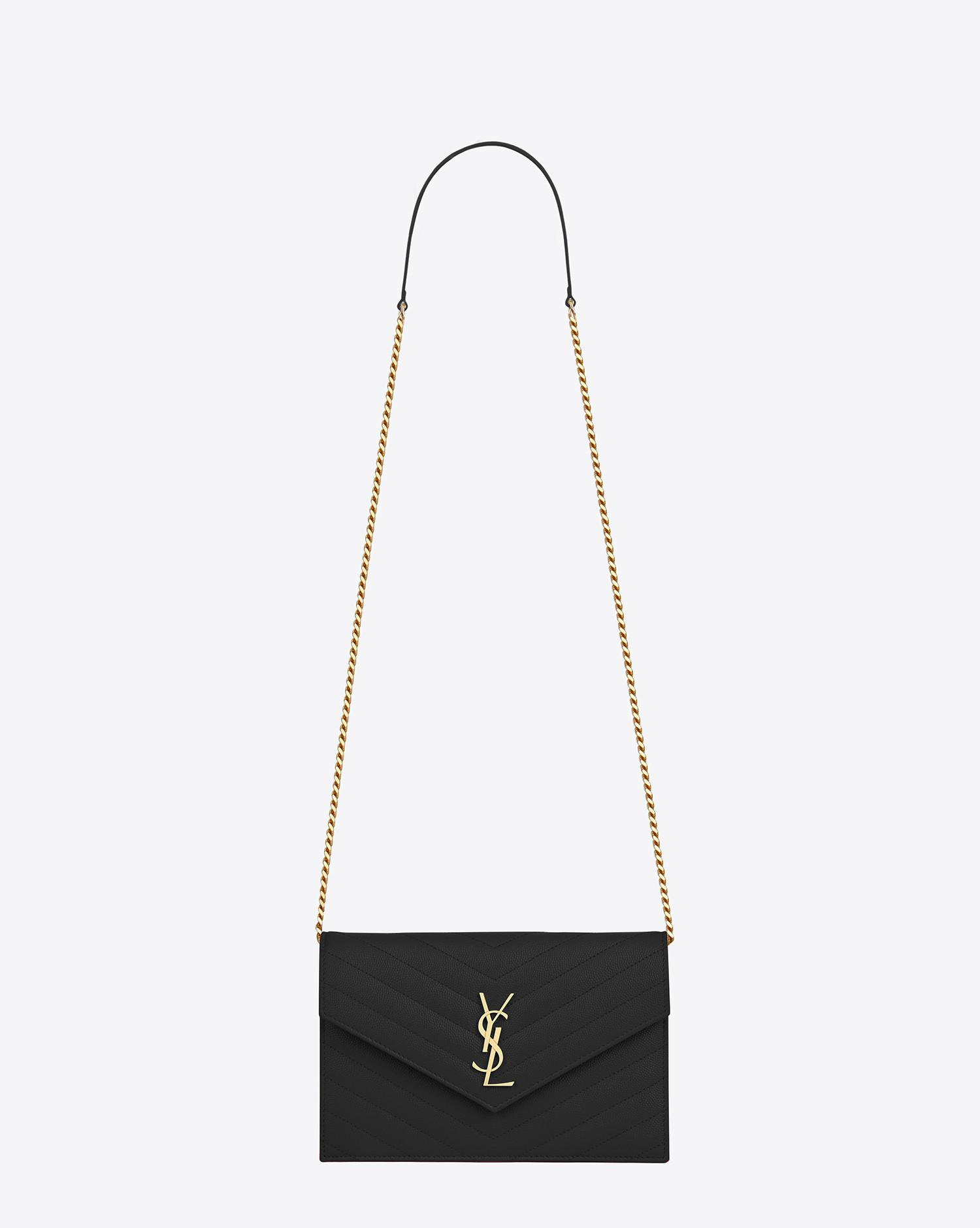46fe182e686 Gallery. Women s Wallet On Chain Women s Fossil Kinley Women s Perforated  Leather Handbags Women s Saint Laurent ...