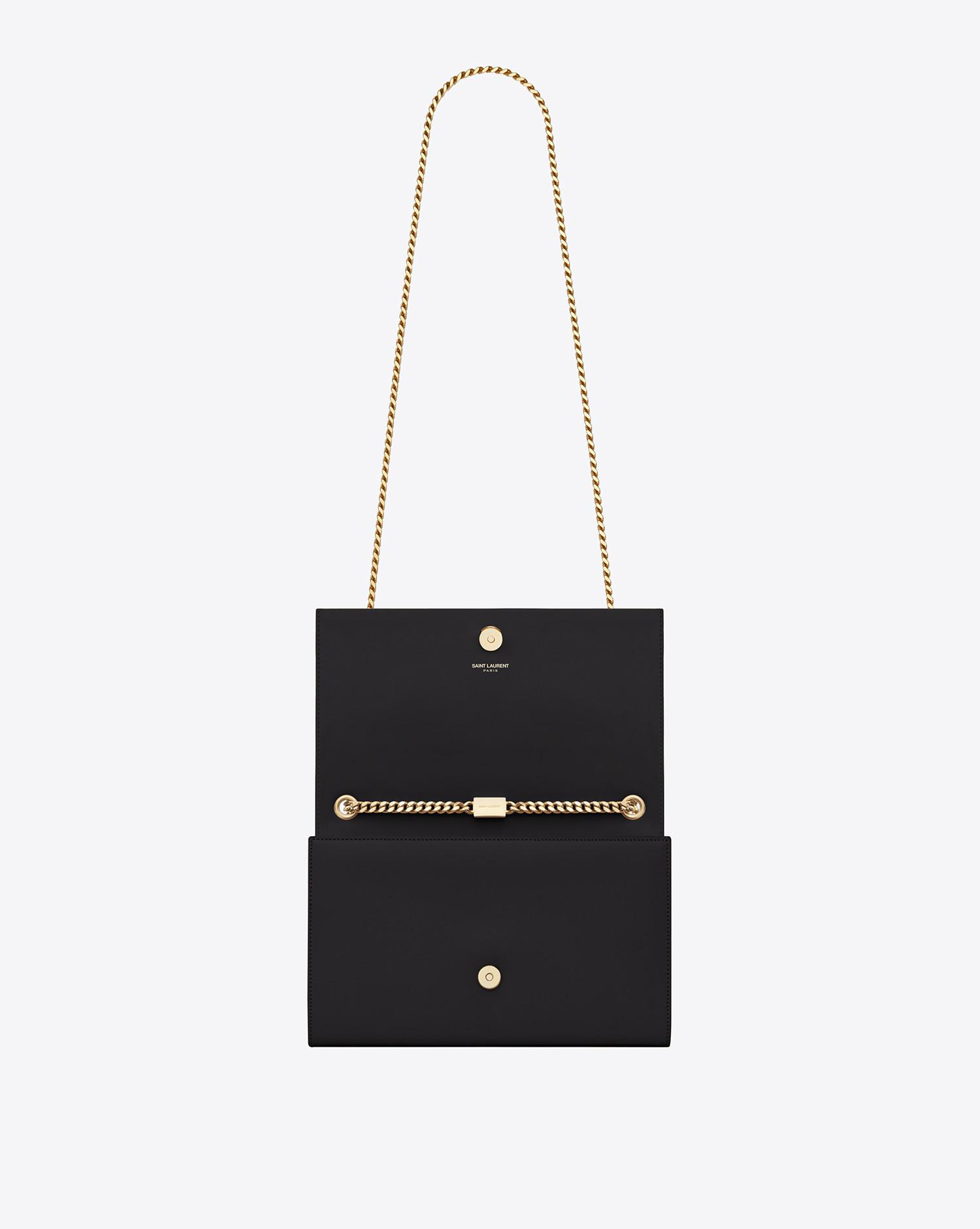 Saint Laurent - Black Classic Medium Kate Monogram Leather Shoulder Bag -  Lyst. View fullscreen 2c0b4c9de721a