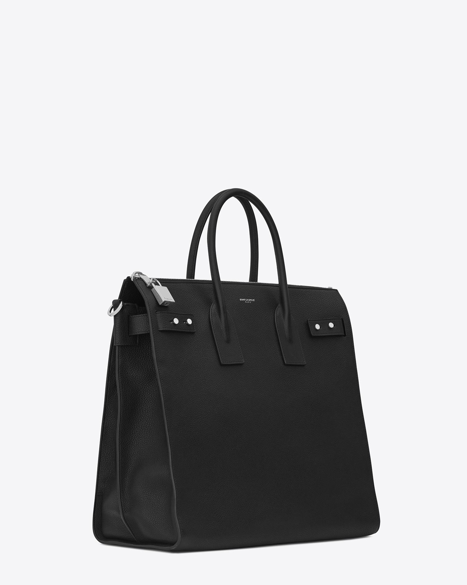 Lyst - Saint Laurent Sac De Jour North south Tote In Grained Leather ... 55a5280ad9e9