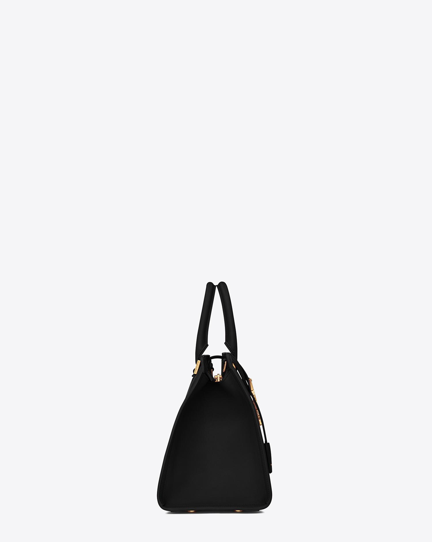 1cdb8e03855 Lyst - Saint Laurent Cabas Ysl Small In Smooth Leather in Black