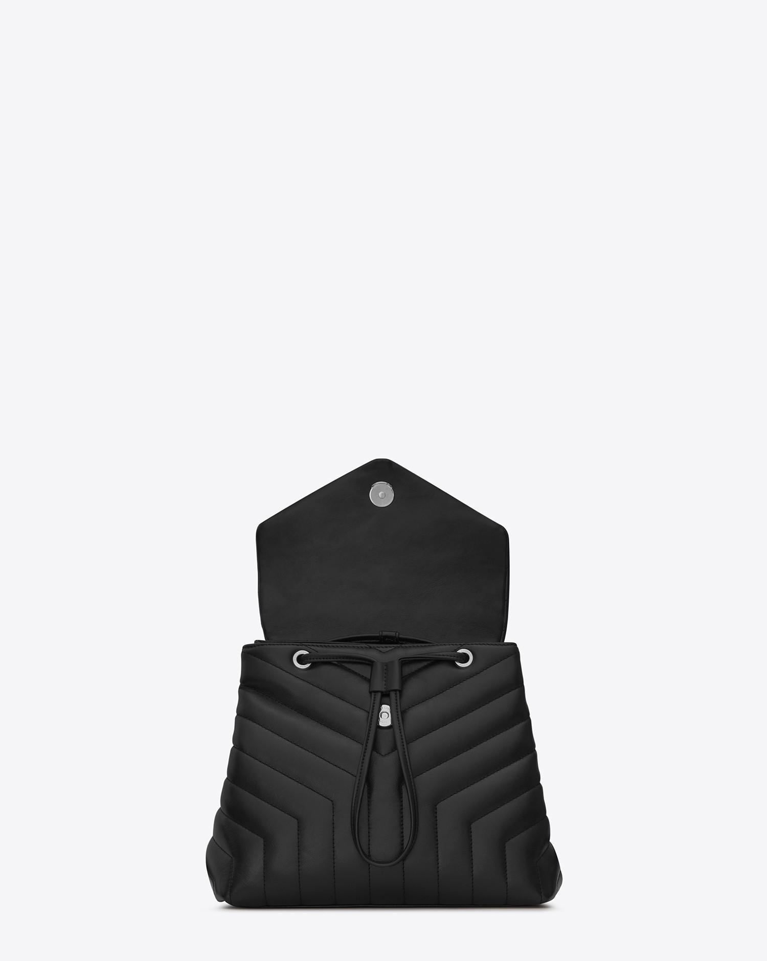 9c45cd5f16 Lyst - Saint Laurent Loulou Small Backpack In Matelassé