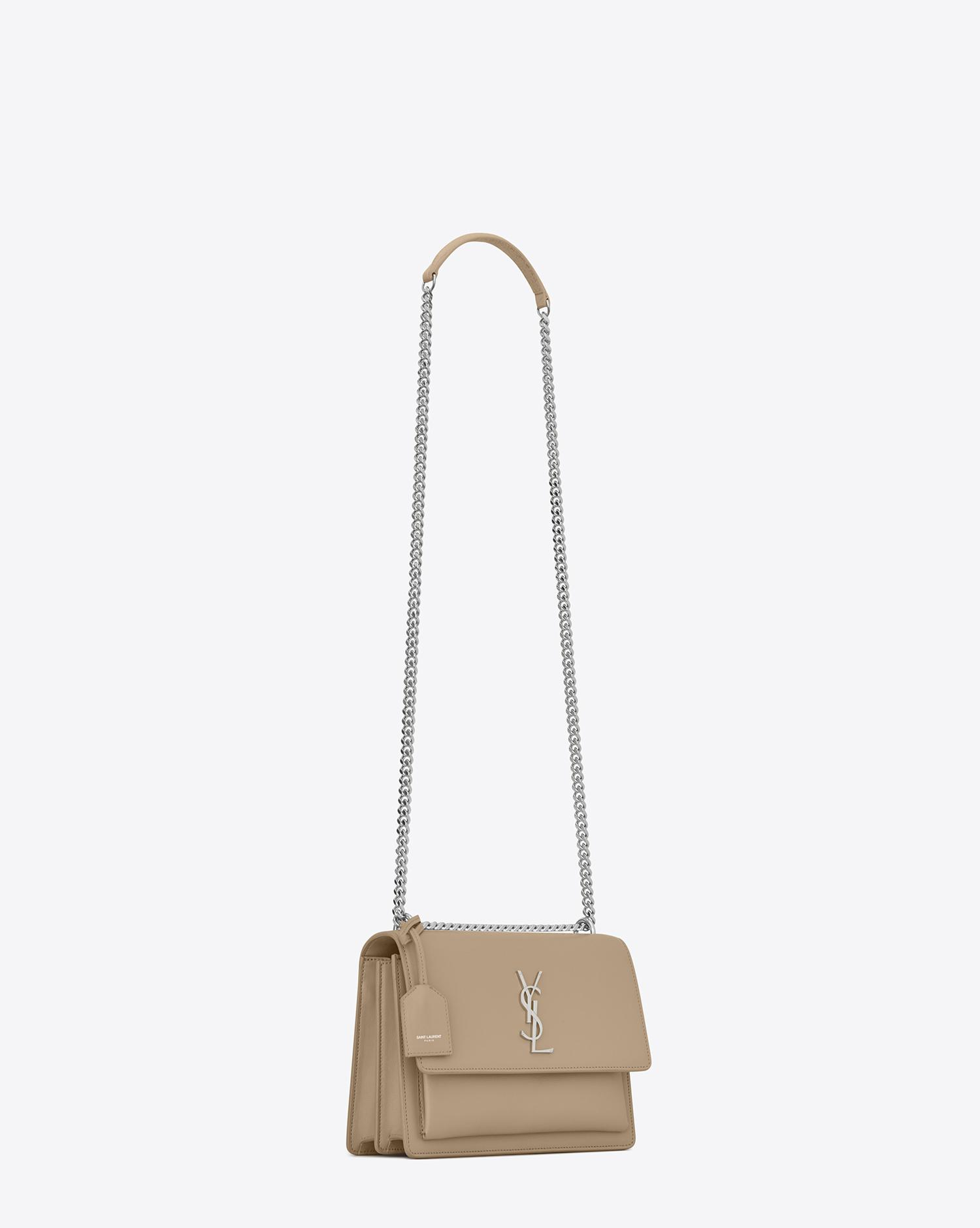 Lyst - Saint Laurent Sunset Medium In Smooth Leather in Natural 422640656e07f