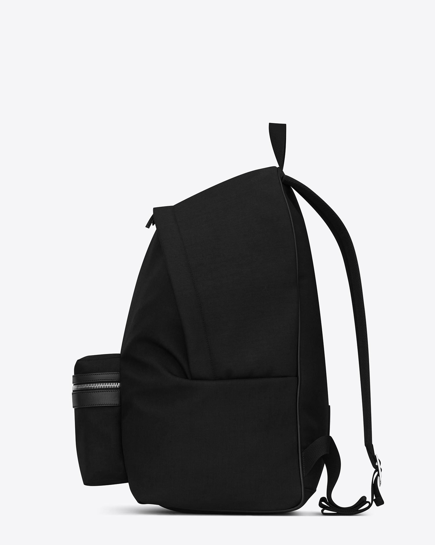 6c13c11215a761 Saint Laurent Giant City Backpack In Black Canvas Nylon And Leather in  Black - Lyst