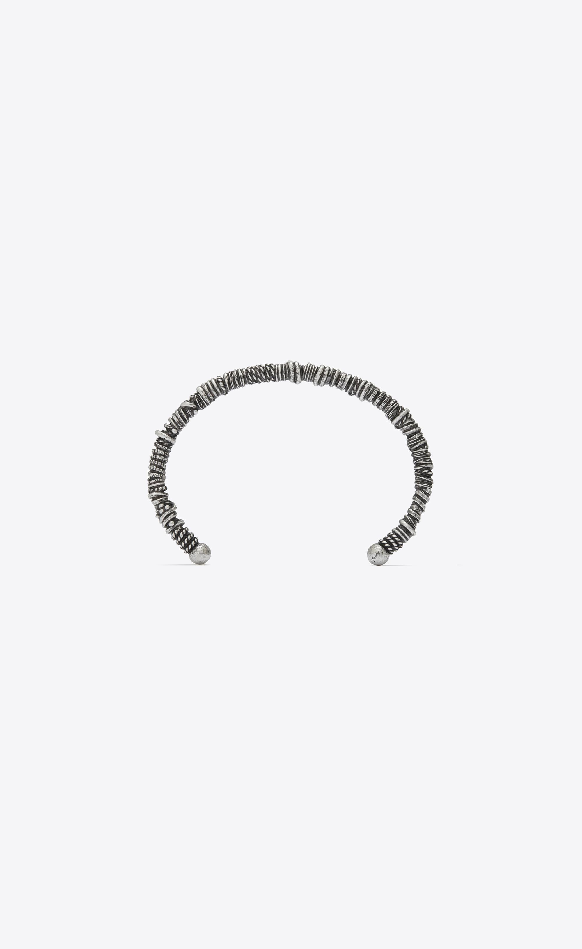 e4e3c07826 Saint Laurent Marrakech Berber Bangle Bracelet In Silver-toned Brass ...