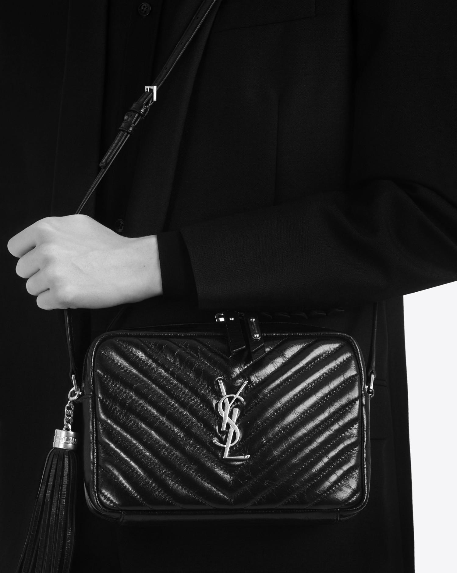 c85c8c0ba668 Lyst - Saint Laurent Lou Small Matelassé Leather Camera Shoulder Bag ...