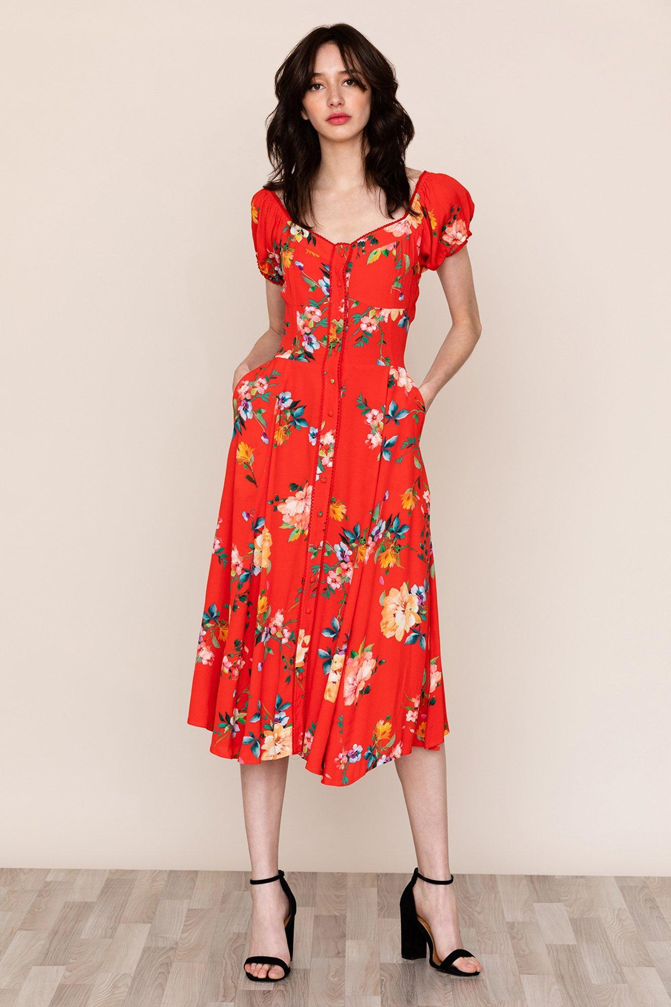 304009832827 Yumi Kim - Red Mercer Street Dress - Lyst. View fullscreen