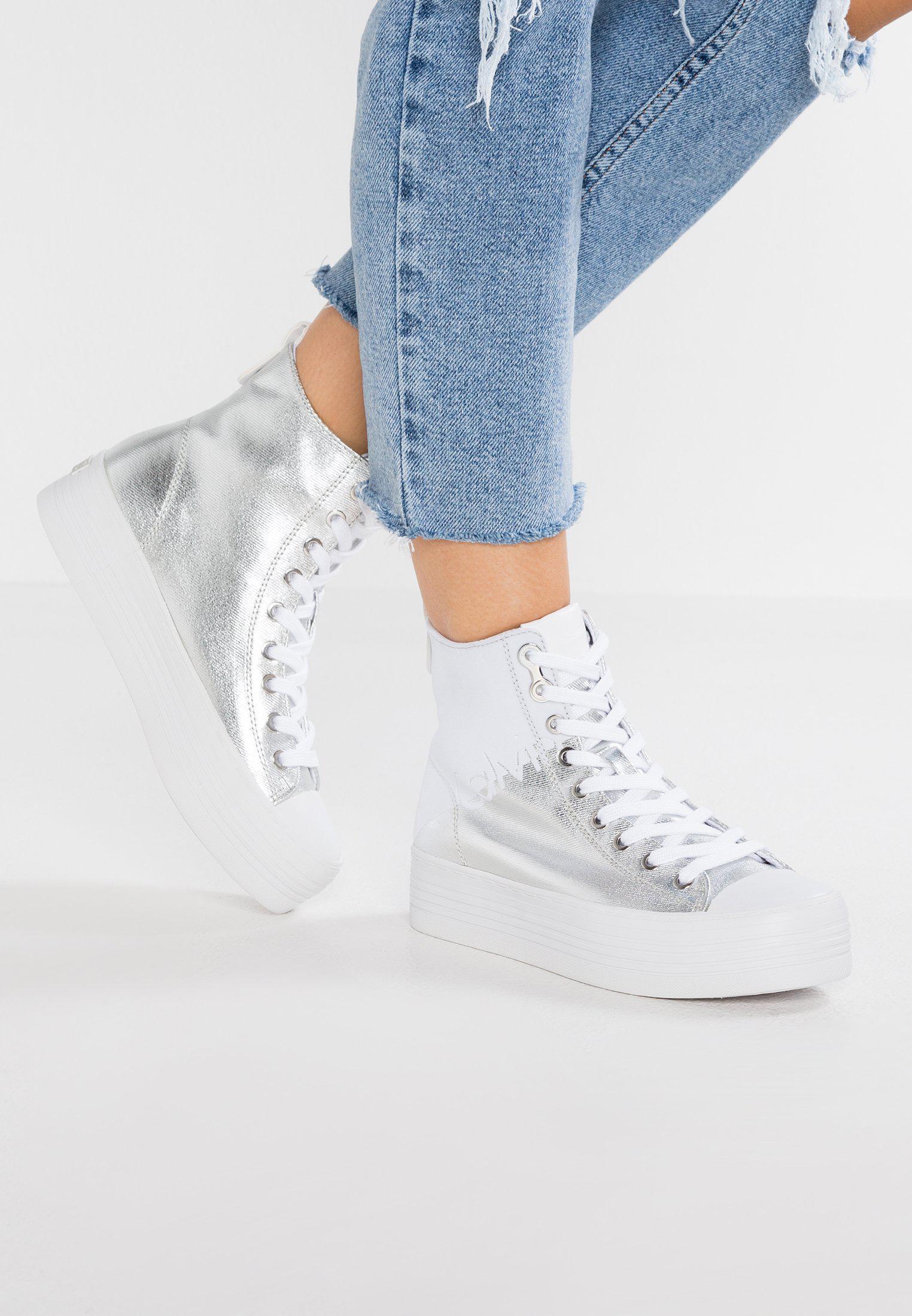 Calvin Klein JeansZAZAH - High-top trainers - white laXwROMH3