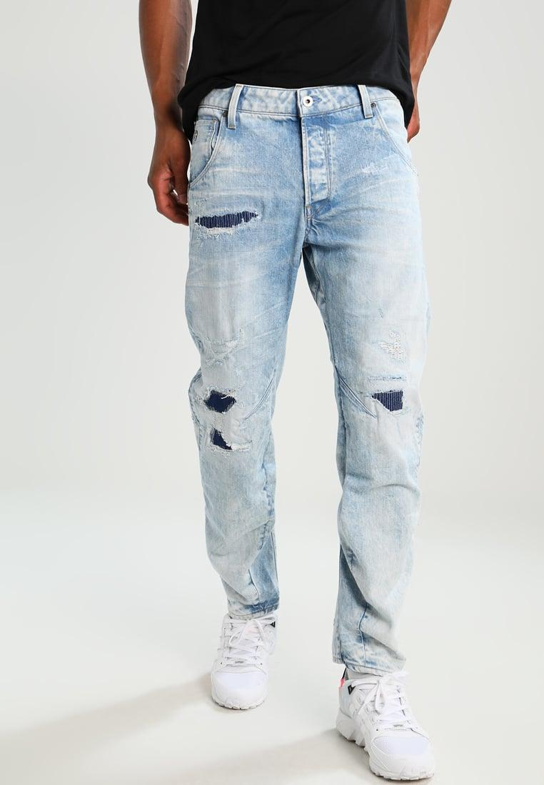g star raw arc 3d tapered relaxed fit jeans in blue for. Black Bedroom Furniture Sets. Home Design Ideas