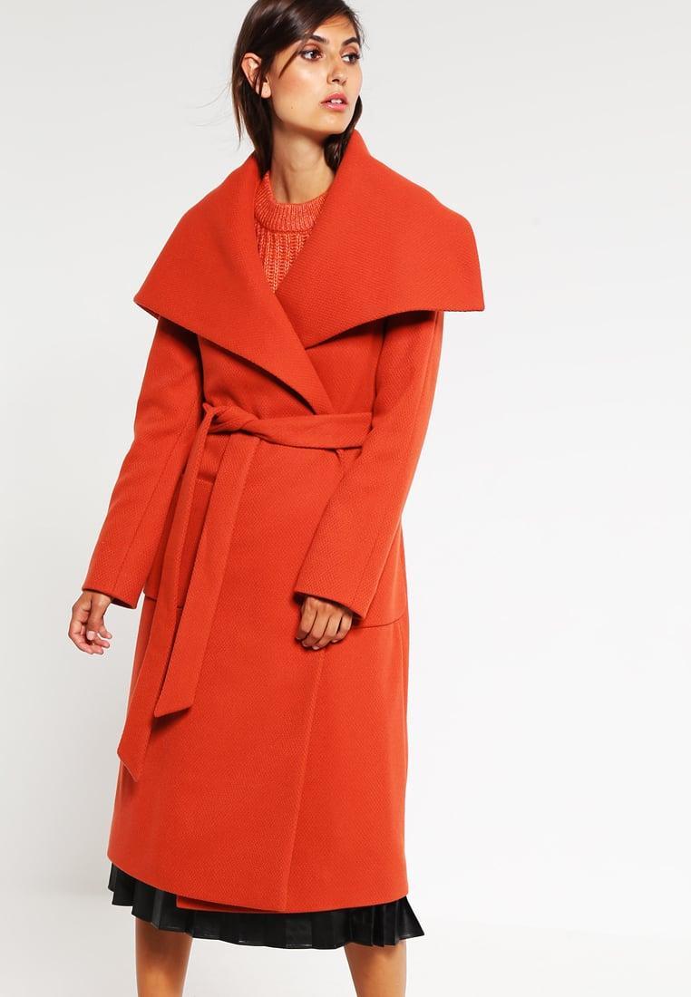 hugo madalyn classic coat in red lyst. Black Bedroom Furniture Sets. Home Design Ideas