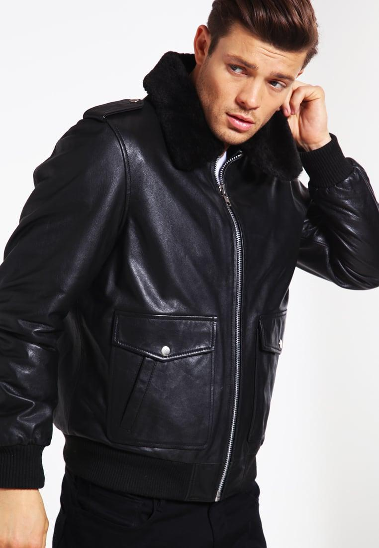 oakwood cockpit leather jacket in black for men lyst. Black Bedroom Furniture Sets. Home Design Ideas