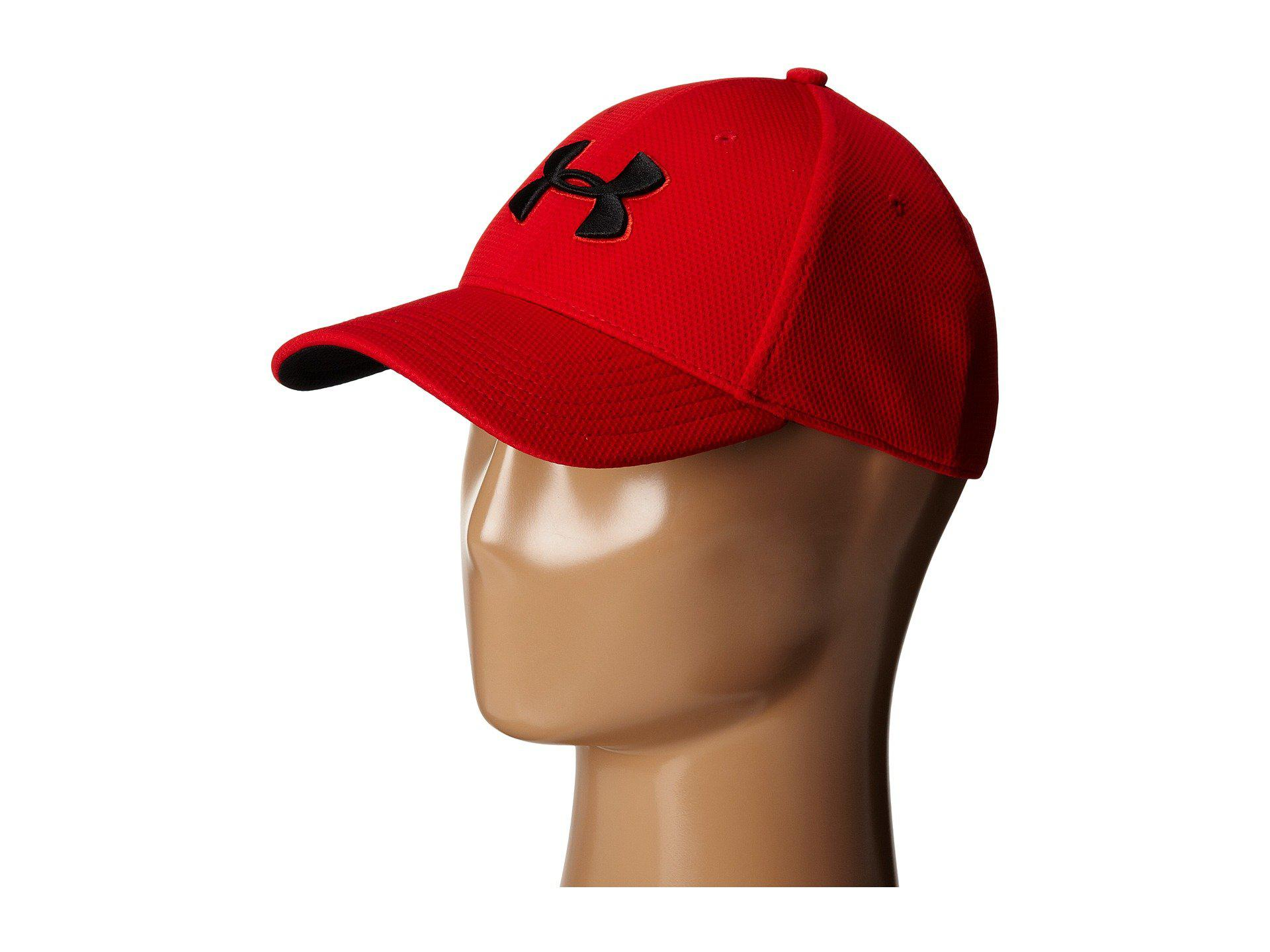 9bdc281b350 Lyst - Under Armour Ua Blitzing Ii Stretch Fit Cap in Red for Men