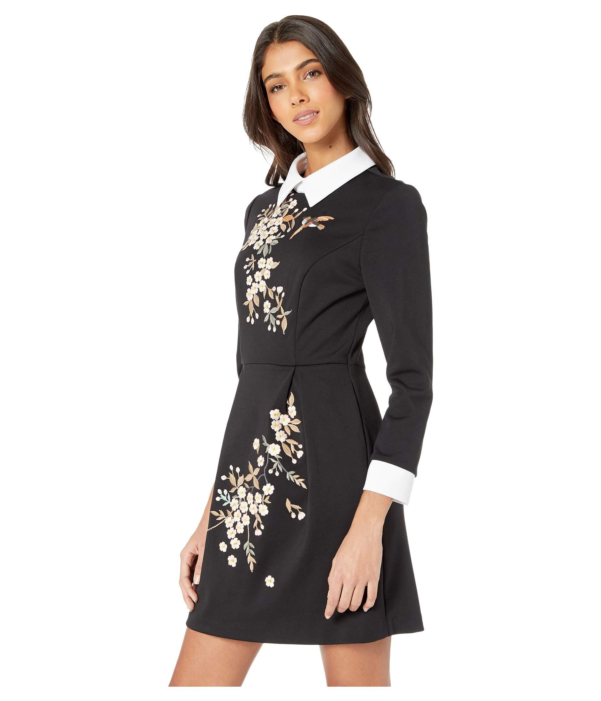 dd373620ffb Ted Baker Ellan Graceful Collared Dress (black) Women s Dress in ...