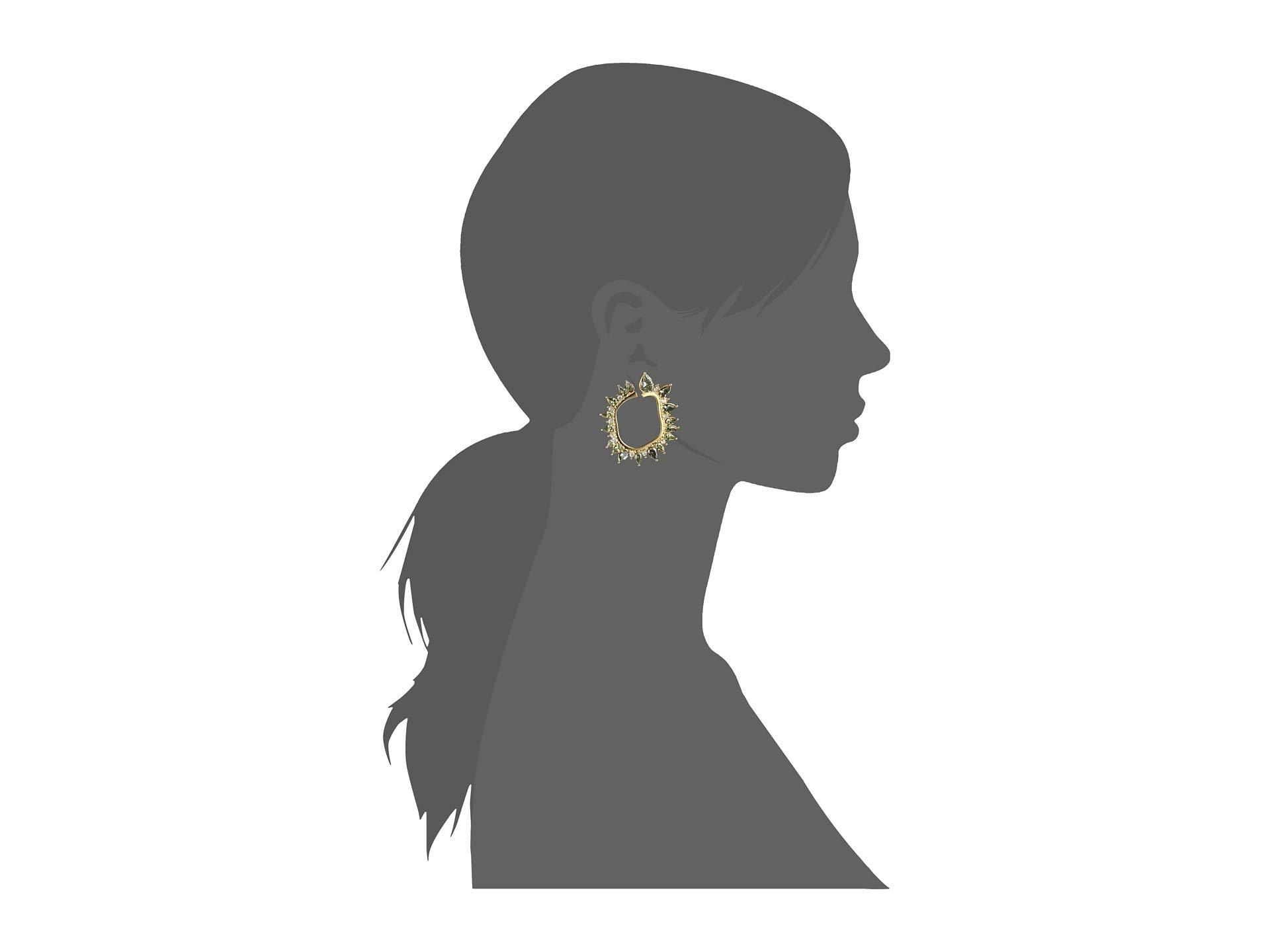 41b81902f21 Lyst - Vince Camuto Wraparound Hinge post Earrings (rhodium light ...