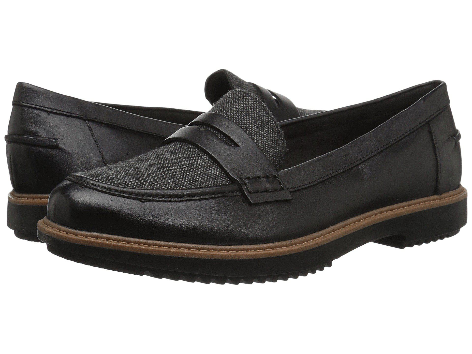 696b99e460e Lyst - Clarks Raisie Eletta (black Leather) Women s Slip On Shoes in ...
