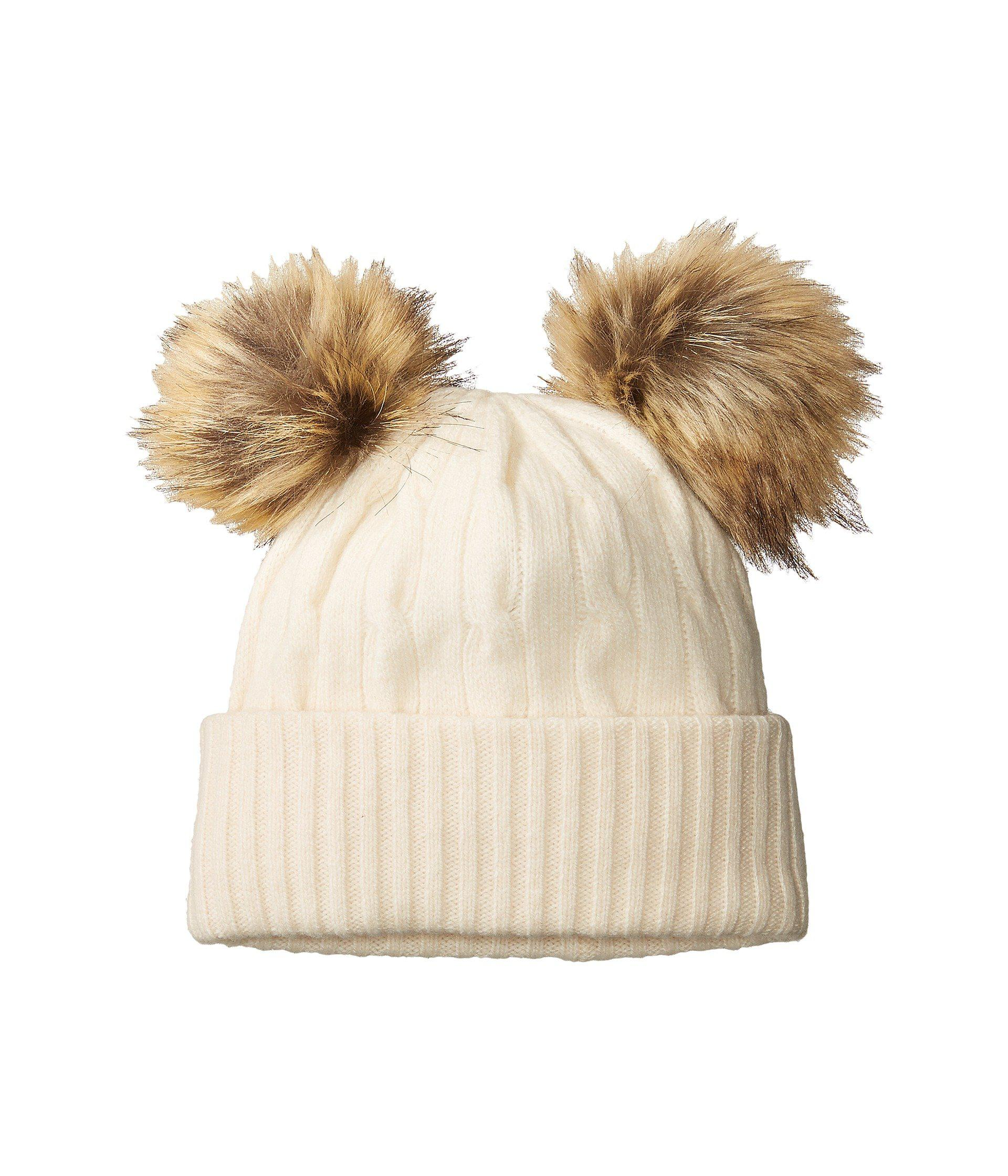 Lyst - Polo Ralph Lauren Double Pom Cashmere Blend Hat in Natural 43f33faf33a