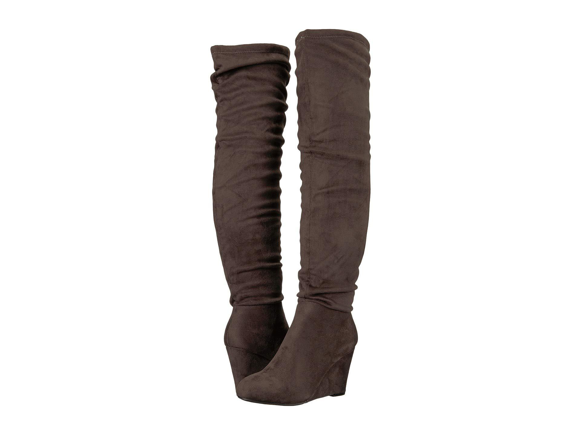 c54a9f614a2 Lyst - Chinese Laundry Uma (charcoal Suedette) Women s Pull-on Boots ...