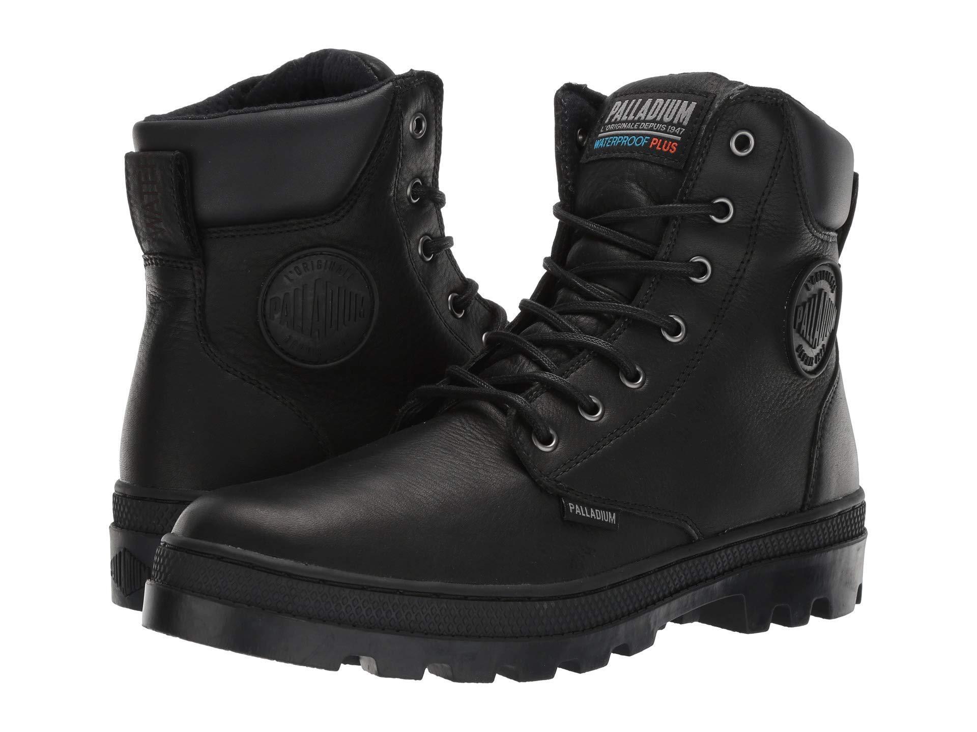 63c4db81c8 Palladium Pallabosse Sport Cuff Wp (black/black) Men's Lace-up Boots ...