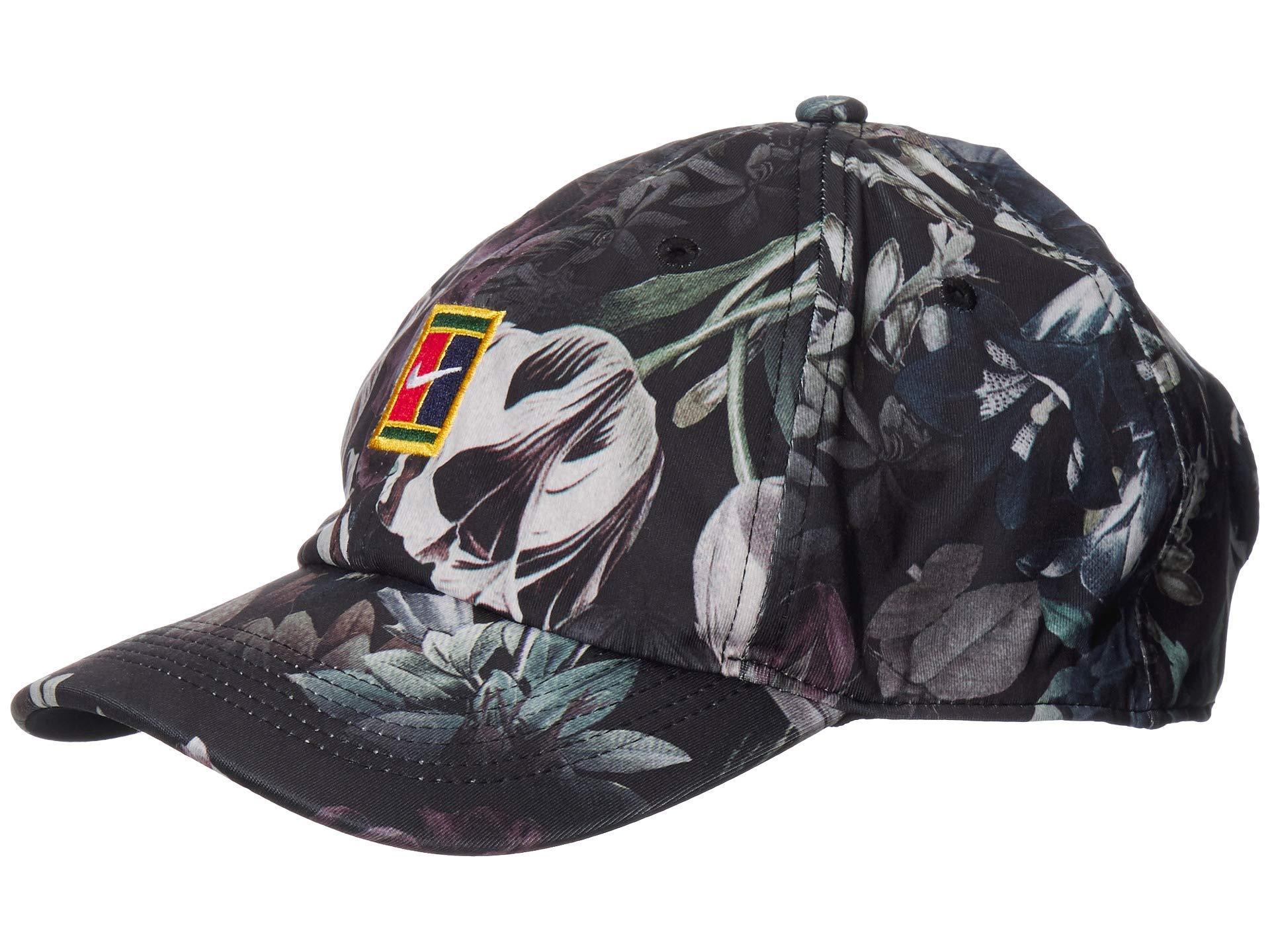 4b2b4fde5 Nike Heritage 86 Court Logo Floral Cap (black/canyon Gold) Caps in ...
