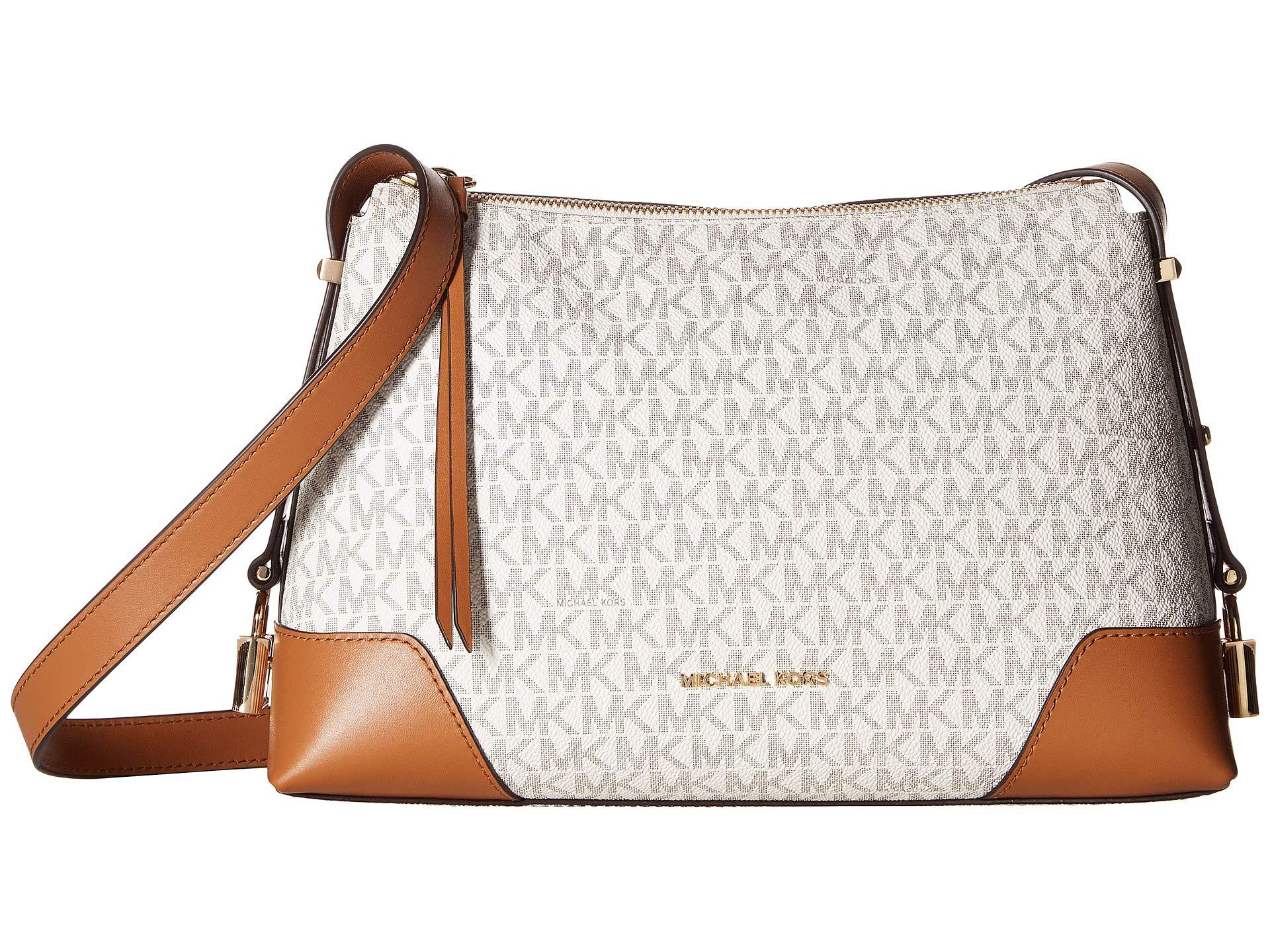 2f2416773b2f MICHAEL Michael Kors. Women s Crosby Medium Messenger (vanilla acorn) Cross  Body Handbags