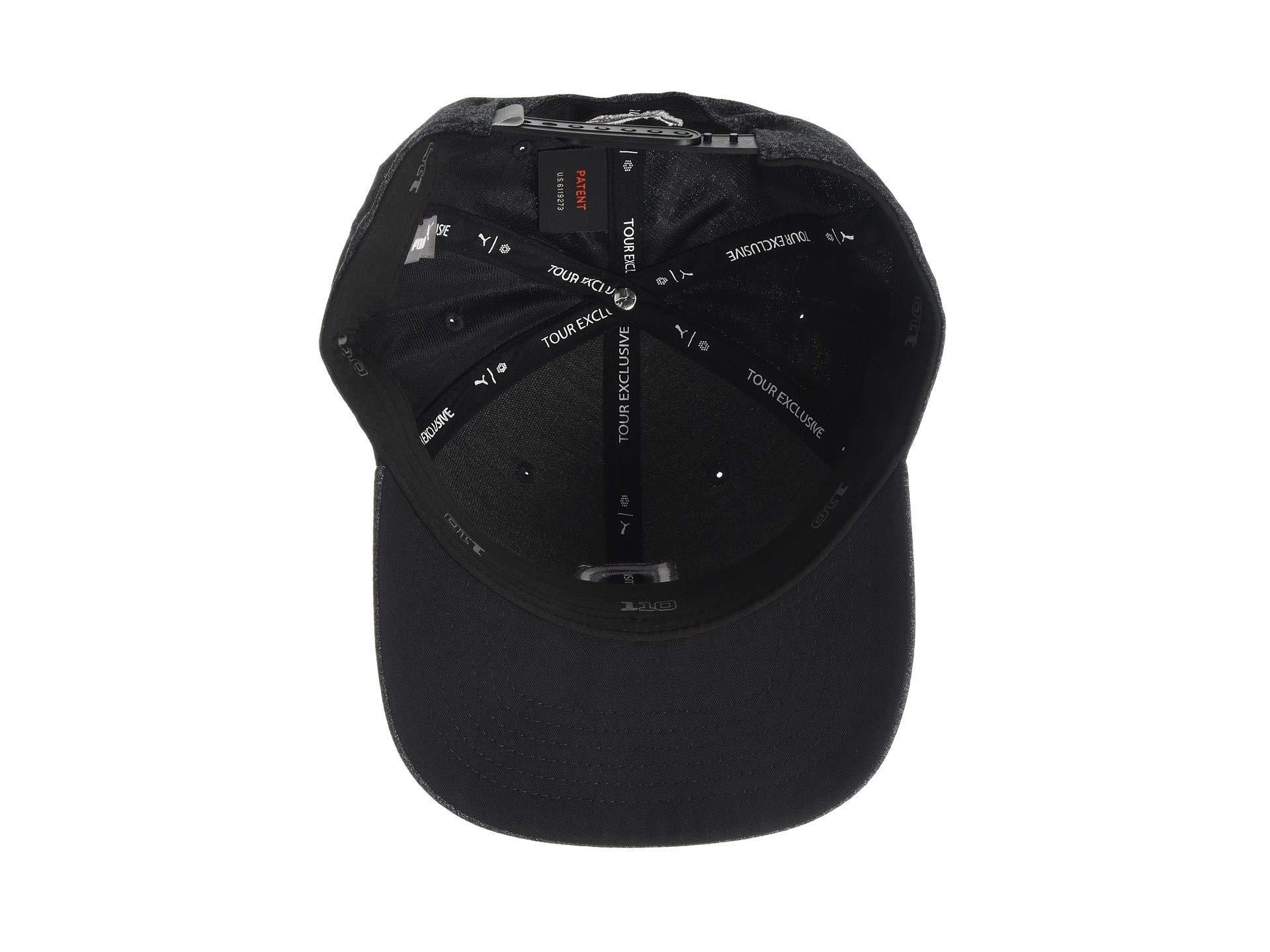 d6c58b82602 PUMA - Black P 110 Snapback Cap (bright White Heather) Baseball Caps for Men.  View fullscreen
