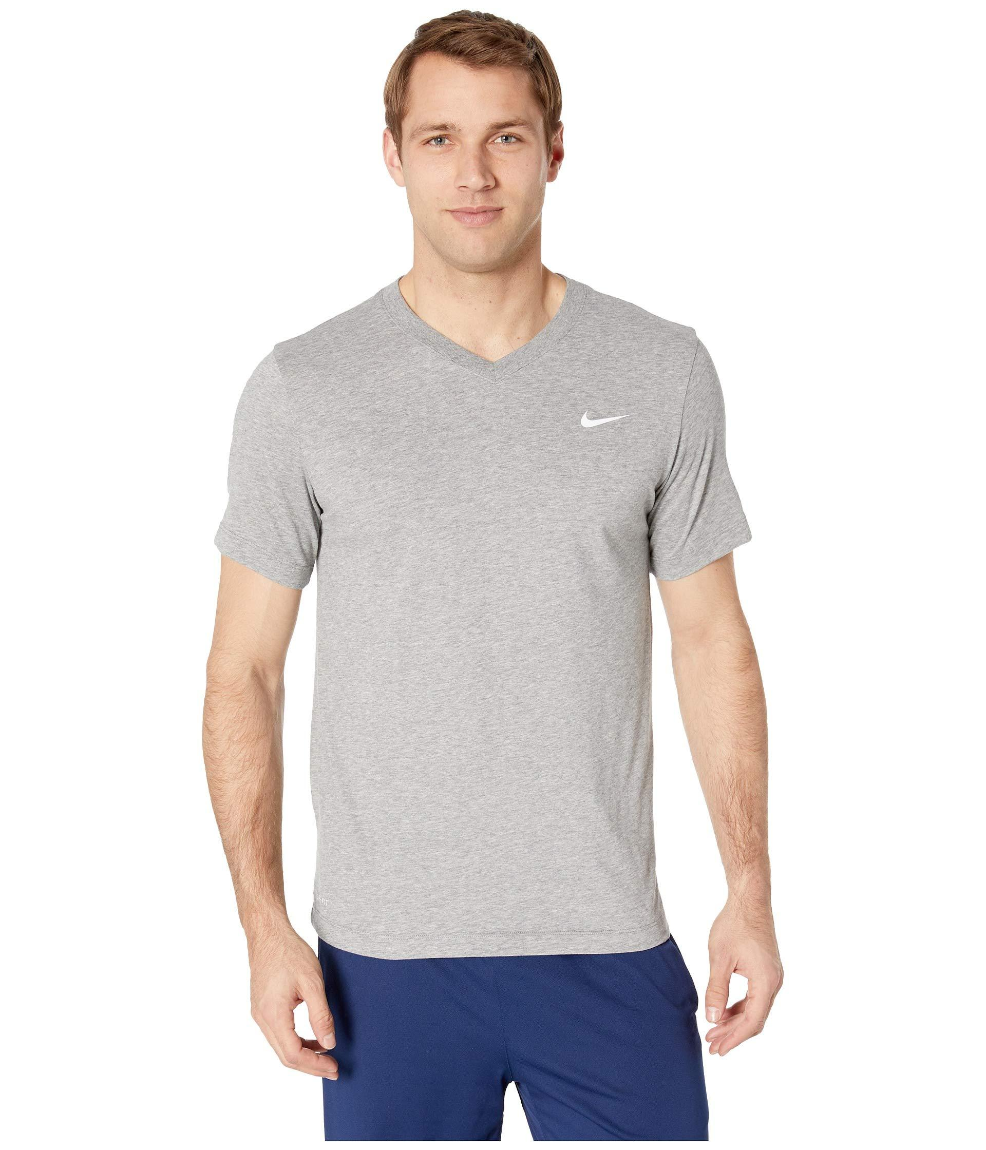 5caa8085a835 Lyst - Nike Dry Tee Dri-fit Cotton V Solid (nightshade orange Peel ...