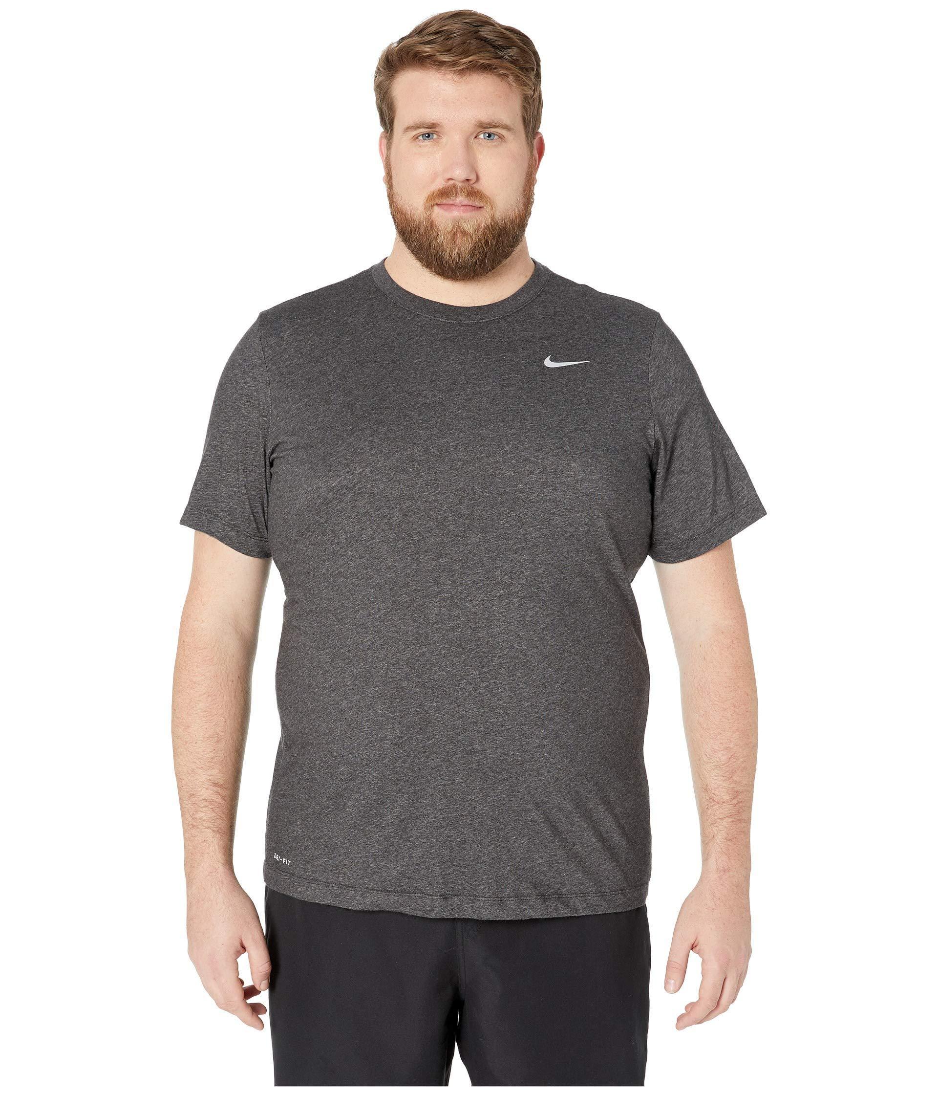 d21f3104 Lyst - Nike Big Tall Dry Tee Dri-fit Cotton Crew Solid (carbon ...