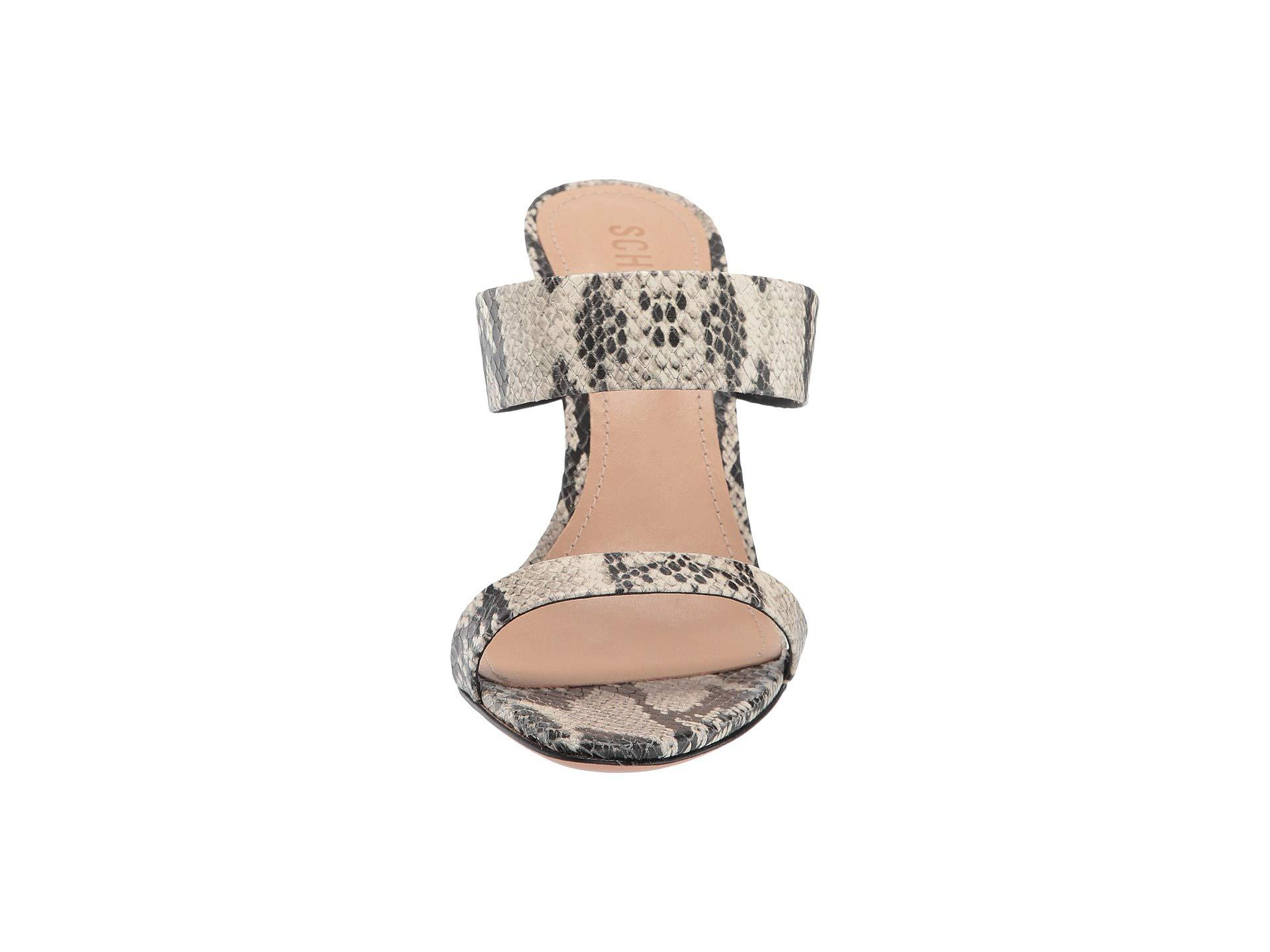 1e80eb5d15a1 Schutz - Natural Leia Snake-embossed Double Strap Sandals - Lyst. View  fullscreen