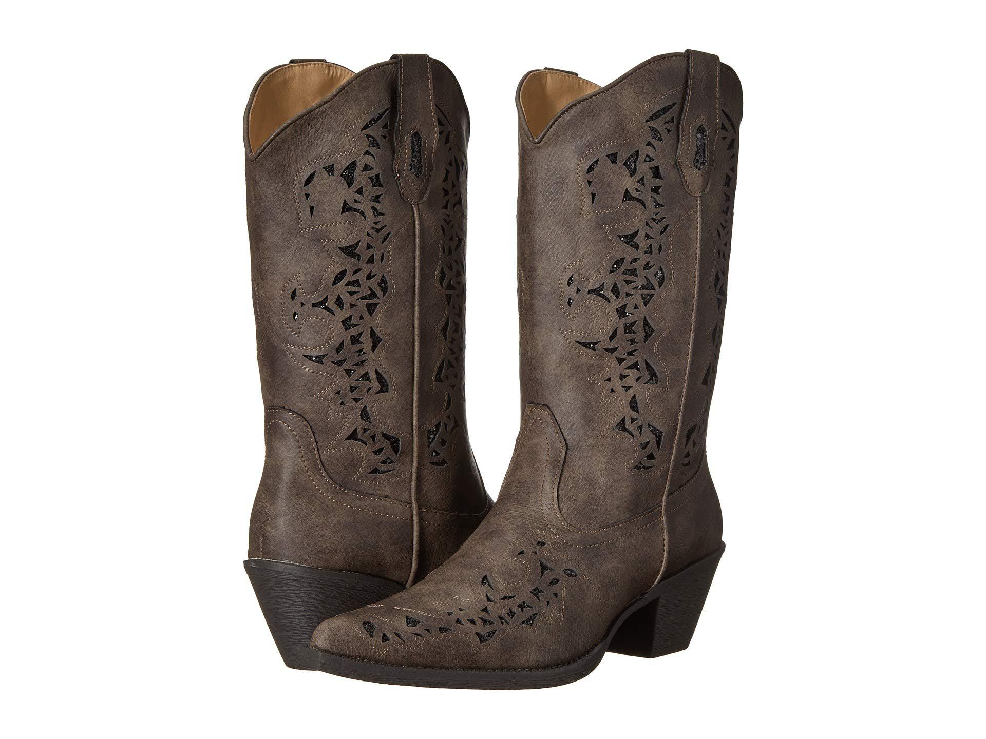 206700601cf Lyst - Roper Alisa (brown Faux Leather) Cowboy Boots in Brown