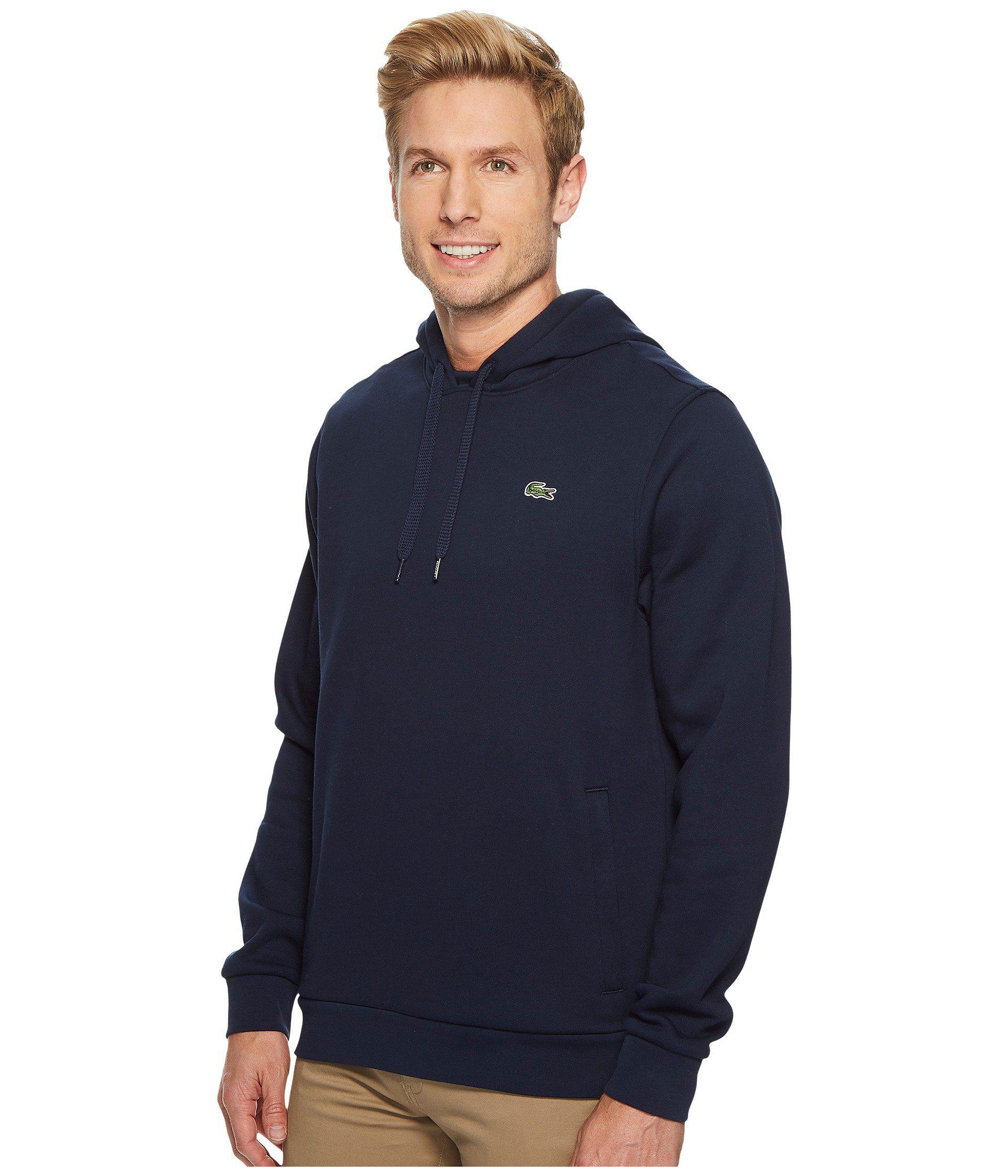 b5200d963629 Lyst - Lacoste Sport Pullover Hoodie Fleece (navy Blue silver Chine) Men s  Sweatshirt in Blue for Men