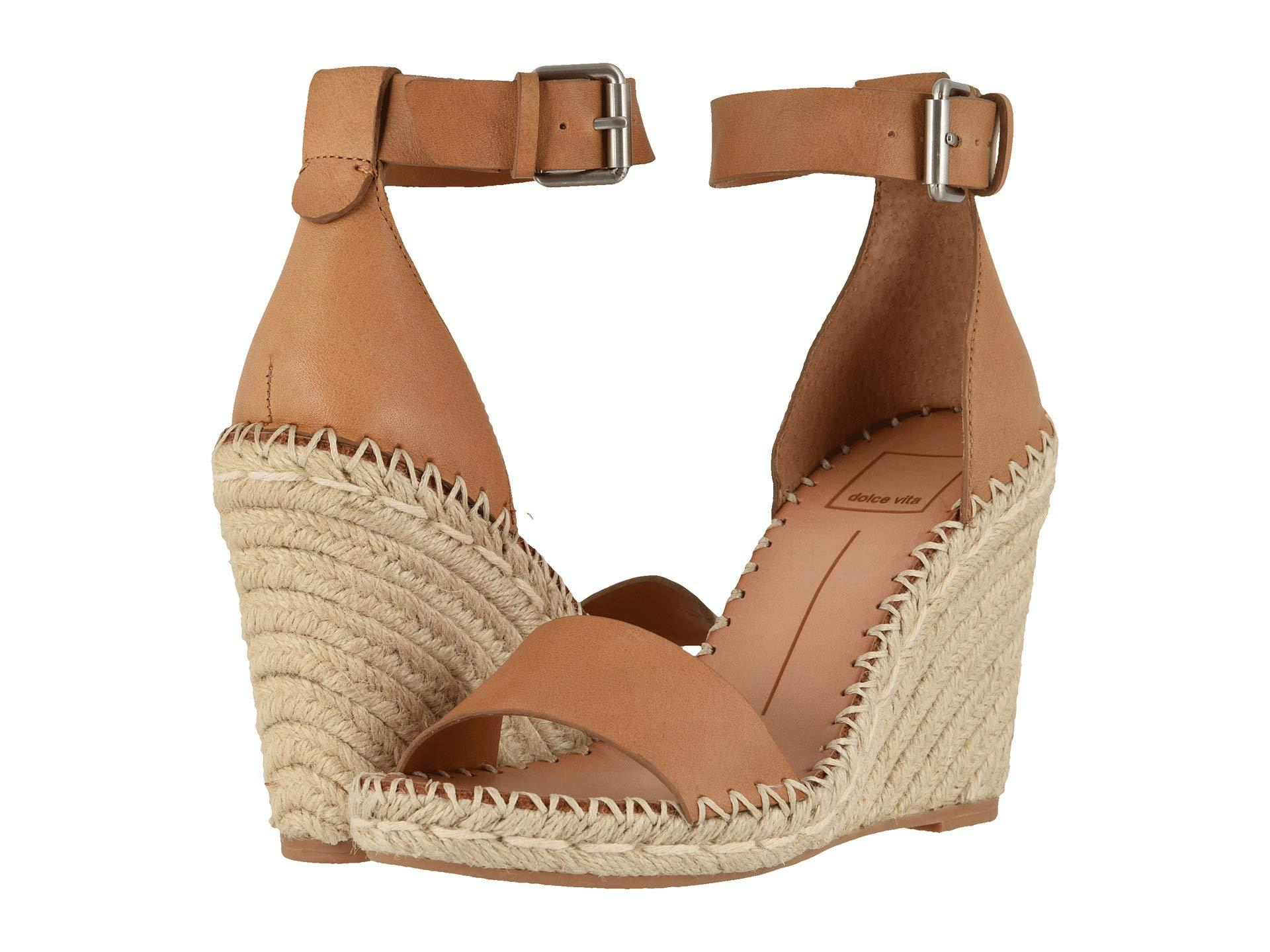 b711646f7406 Dolce Vita - Brown Noor (black Leather) Women s Wedge Shoes - Lyst. View  fullscreen