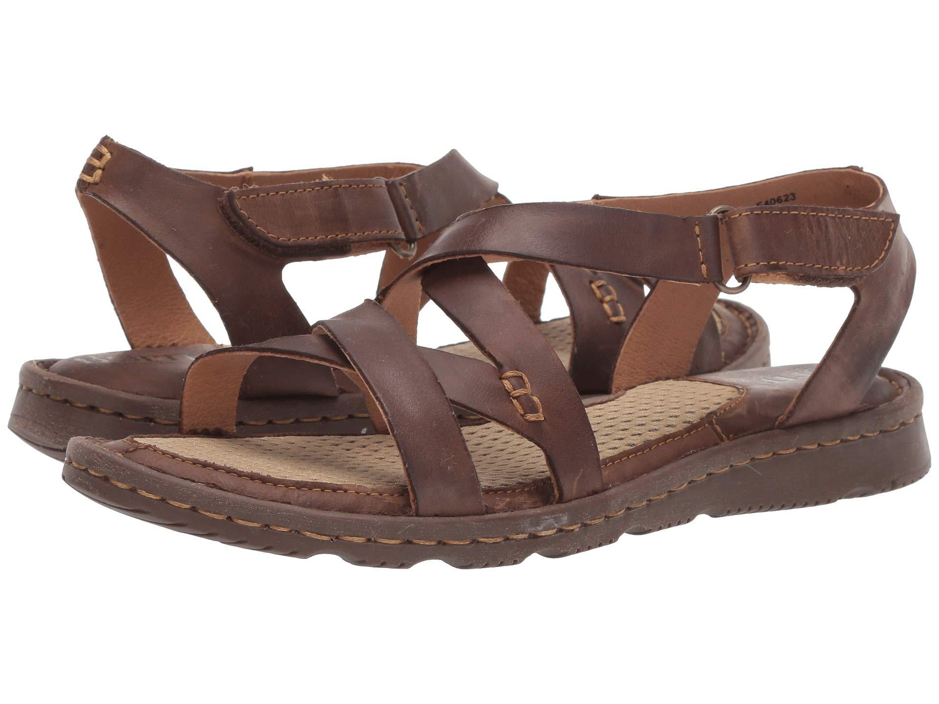 e95c4b421 Born - Trinidad (dark Brown Full Grain Leather) Women s Sandals - Lyst.  View fullscreen