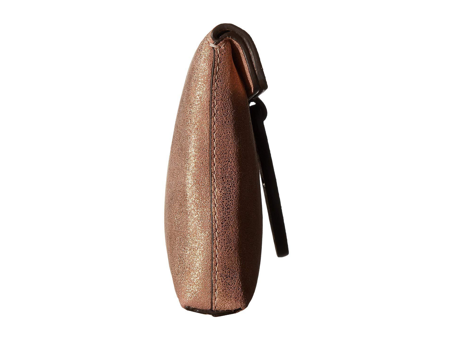 7366295a4780 Tory Burch - Miller Metallic Clutch (seashell Pink) Clutch Handbags - Lyst.  View fullscreen