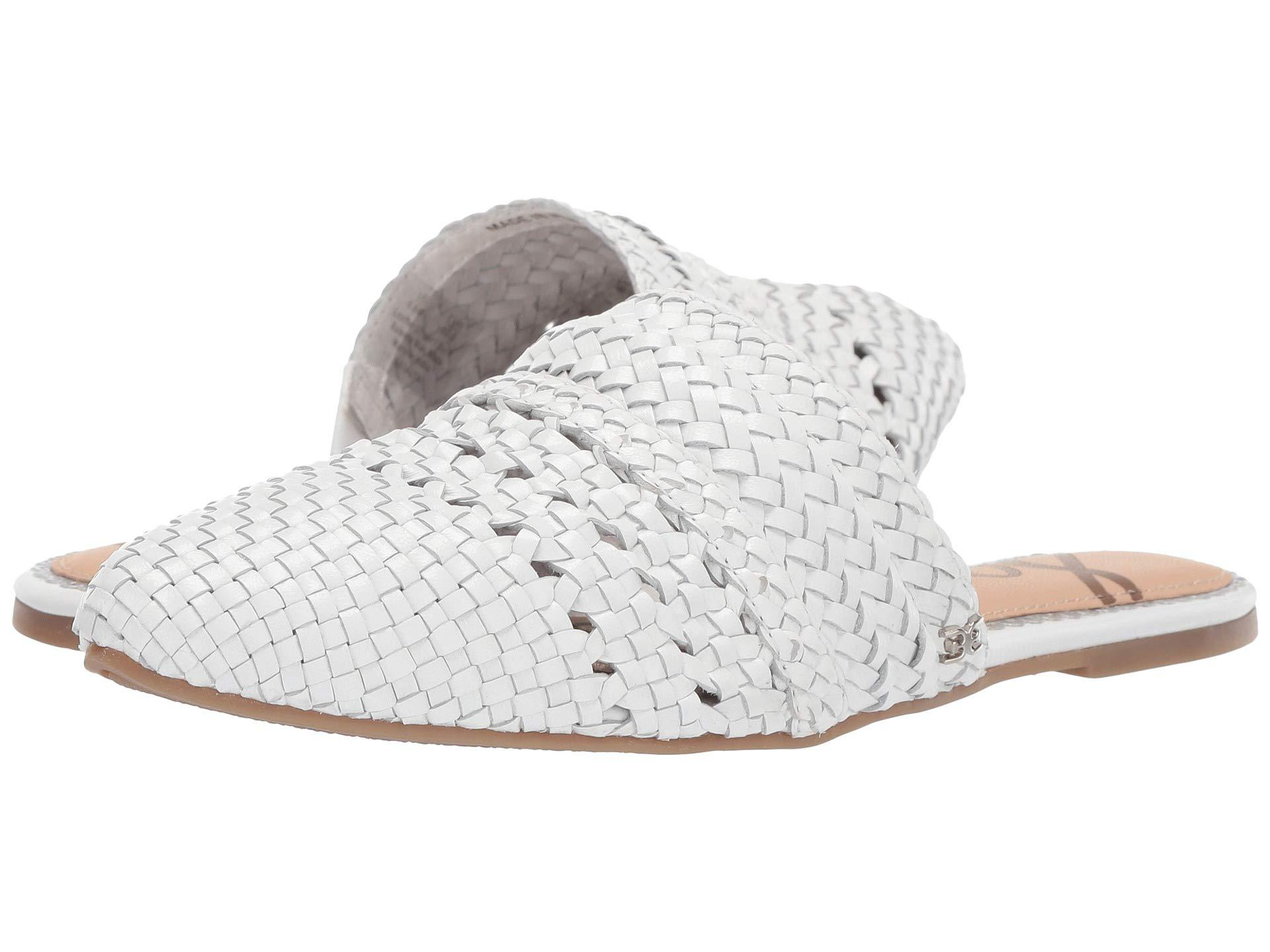 499c400e1 Lyst - Sam Edelman Natalya (white Woven Metallic Leather) Women s ...