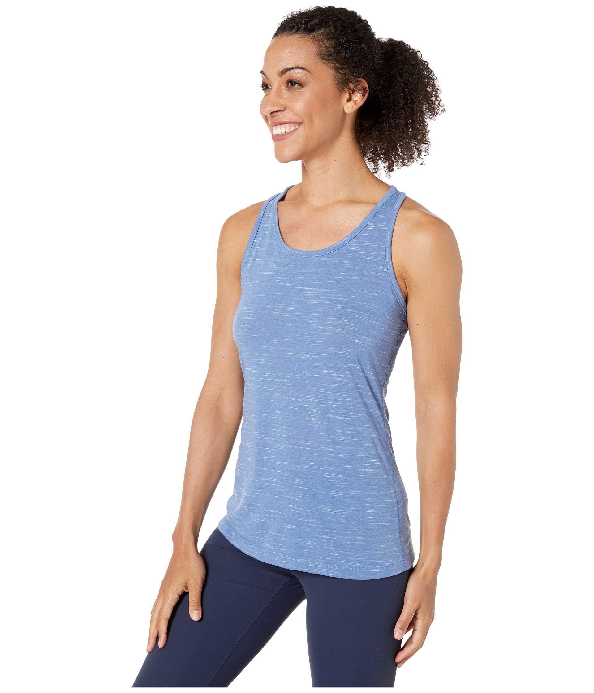 9c612850 Lyst - Nike Dry Legend Veneer Balance Tank (pink Rise/heather/white) Women's  Sleeveless in Blue