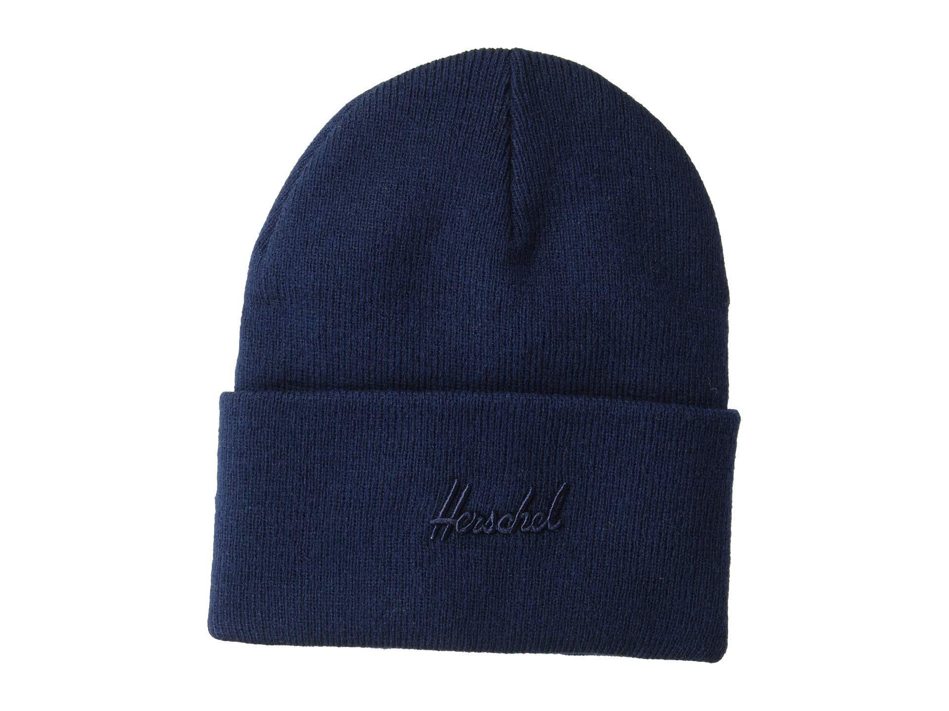 ec43ffb9c7bb9d Lyst - Herschel Supply Co. Aden (peacoat) Beanies in Blue for Men