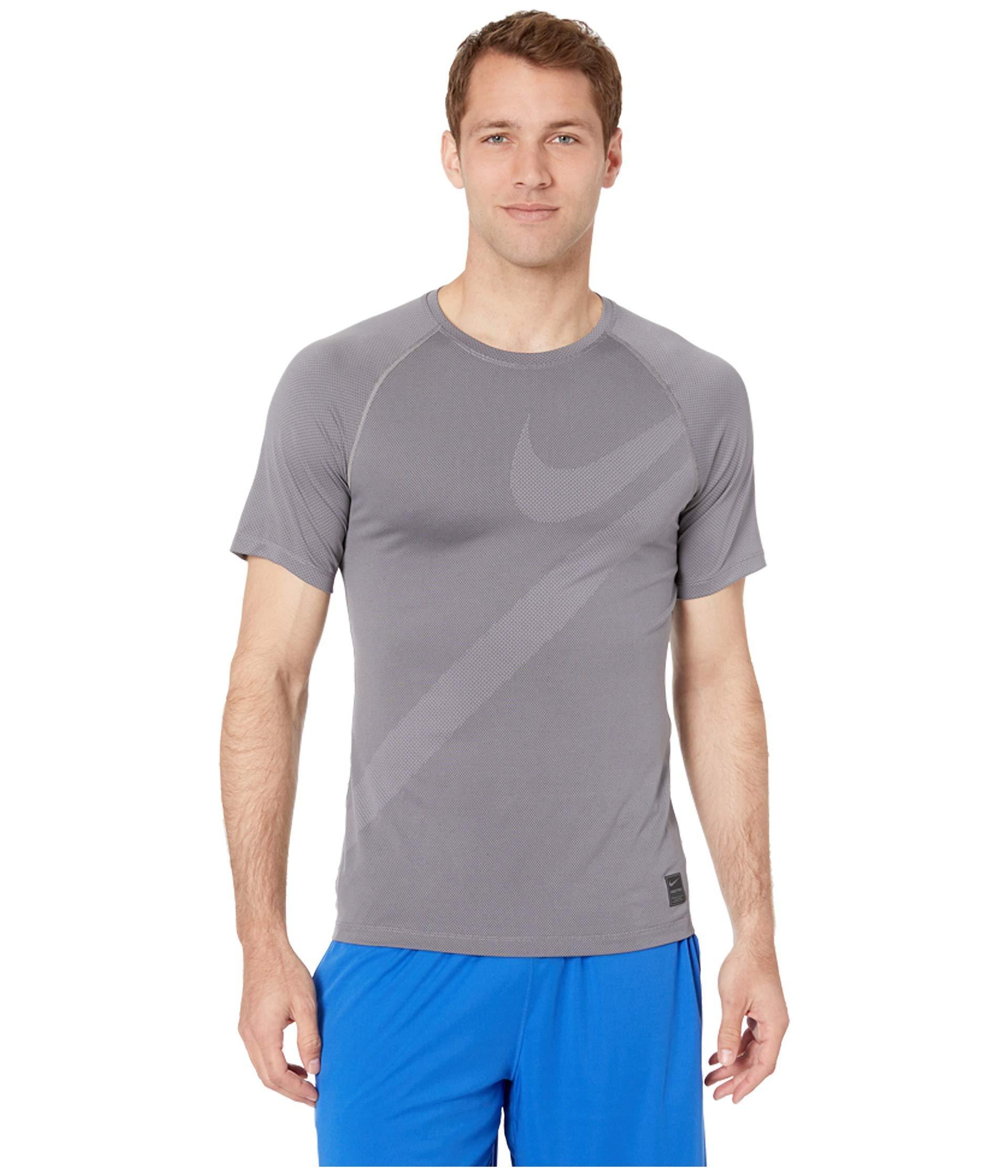 9c53be37 Lyst - Nike Top Short Sleeve Hbr 2 (gunsmoke/black/gunsmoke) Men's ...