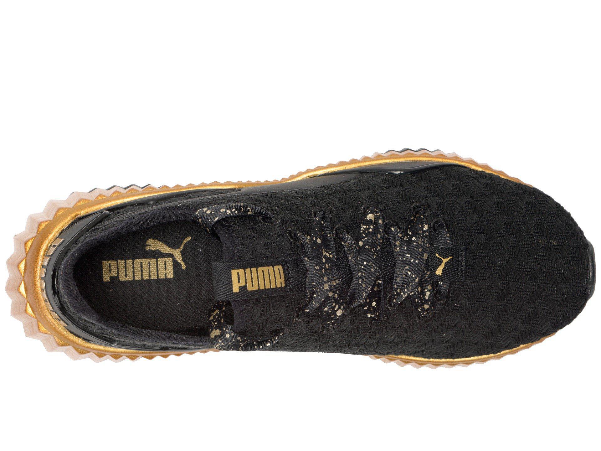 Lyst - PUMA Defy Sparkle ( Black  Team Gold) Women s Lace Up Casual ... 4d892d125