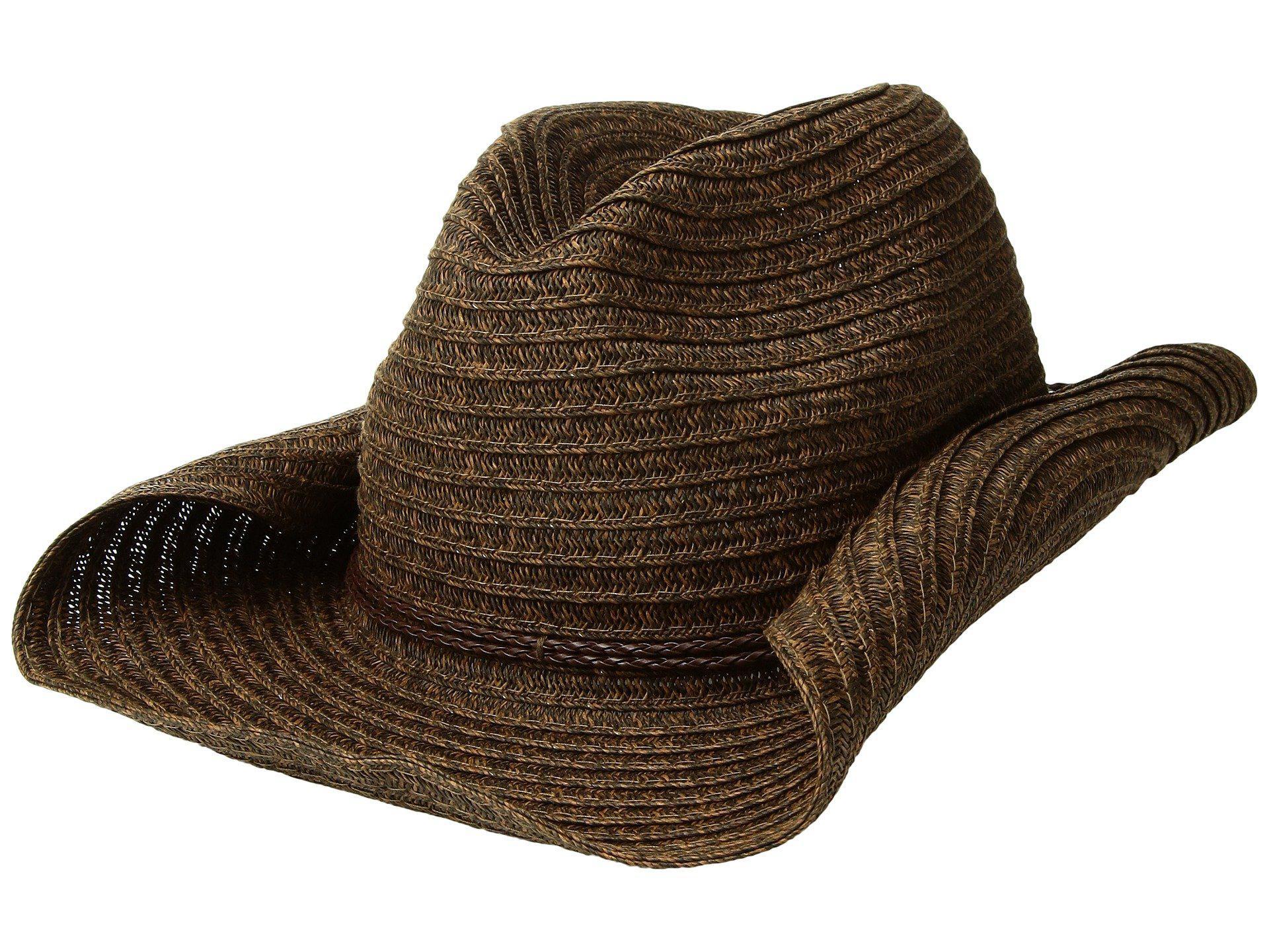 Lyst - San Diego Hat Company Pbc2443os Paperbraid Cowboy W  Double ... 79bdaa977338