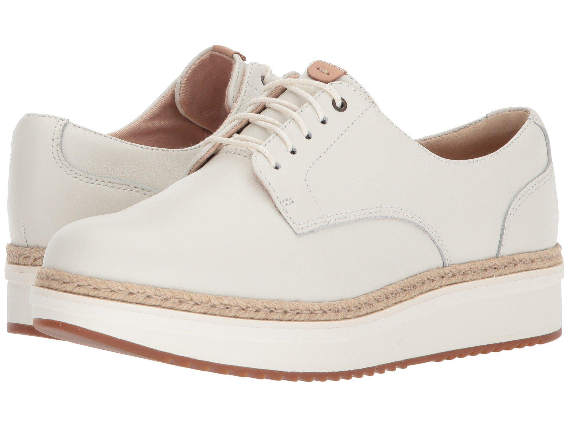 shop sale online buy online with paypal White leather 'Teadale Rhea' lace-up shoes best store to get sale online outlet fashion Style 5h0lv