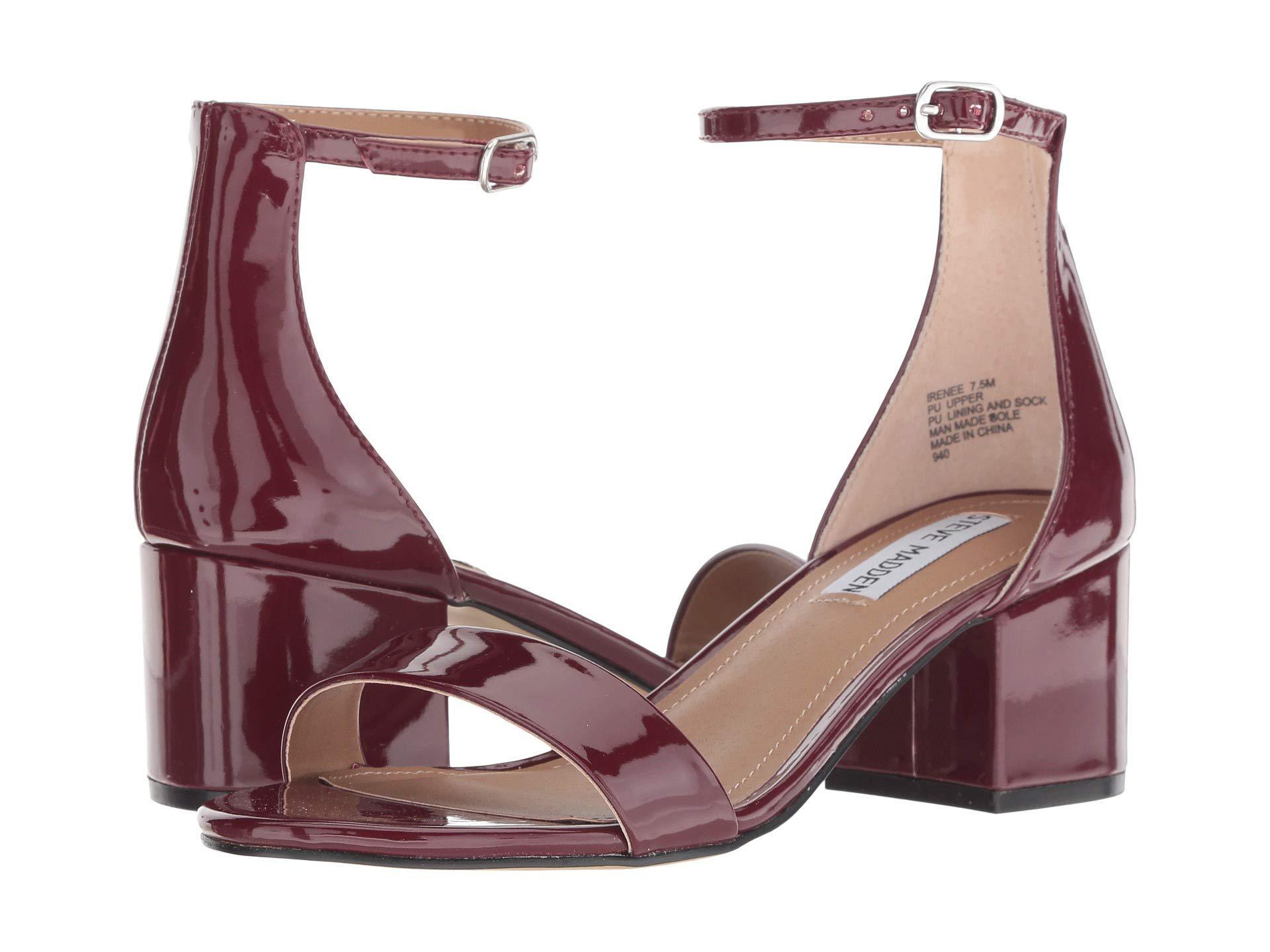 31814b06df7 Steve Madden. Irenee Sandal (black Suede) Women s 1-2 Inch Heel Shoes