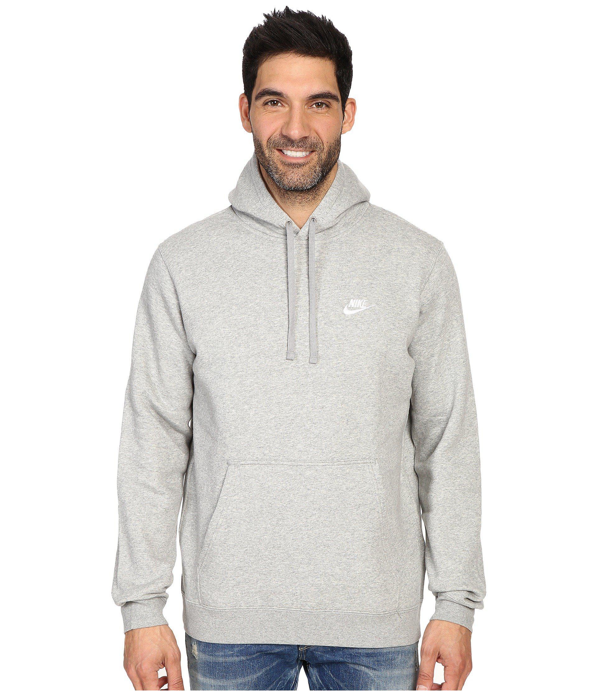 44bbc0fc13b Nike. Gray Club Fleece Pullover Hoodie (black black white) Men s Fleece