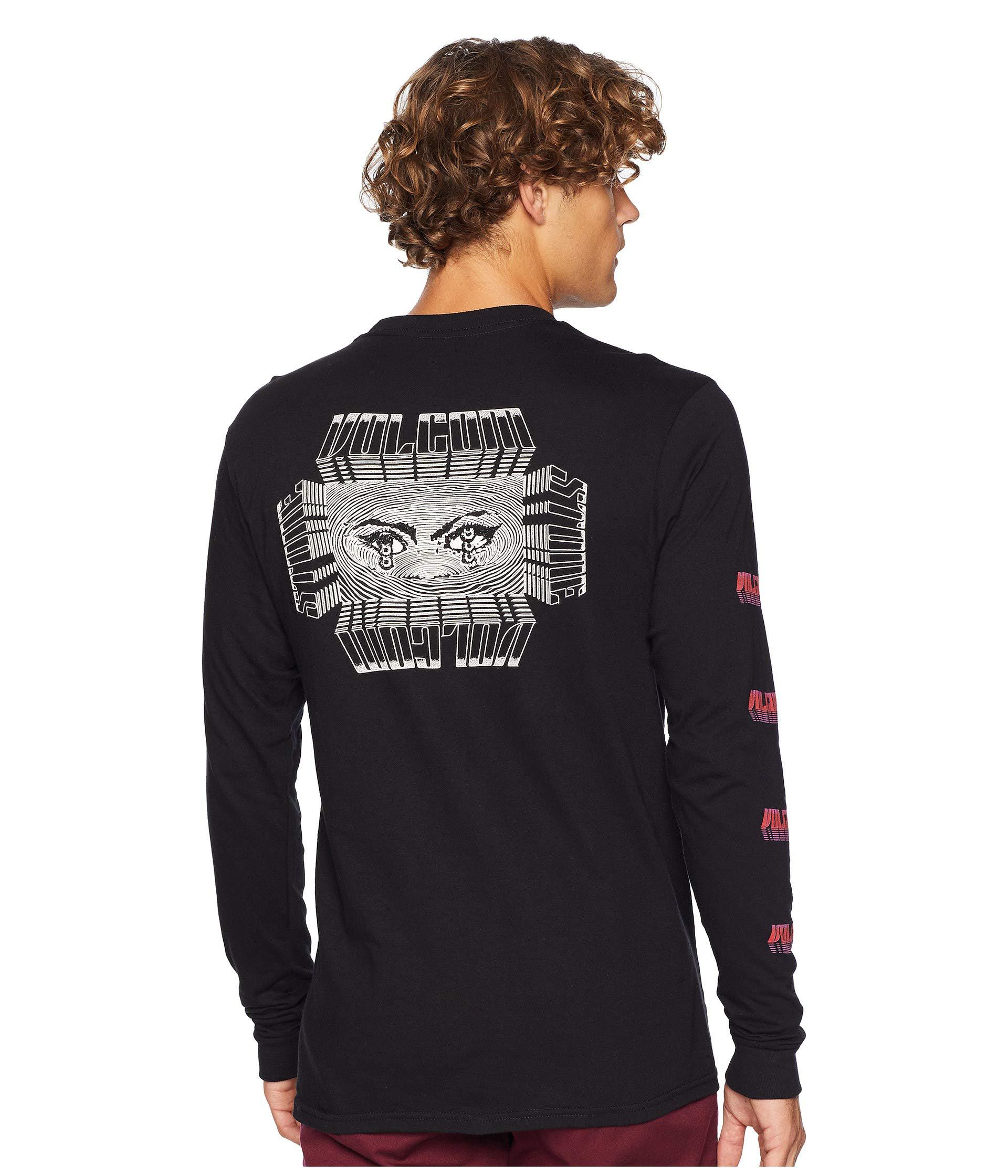 d476ce6c4 Lyst - Volcom Stone Void Long Sleeve Tee (black) Men s T Shirt in ...