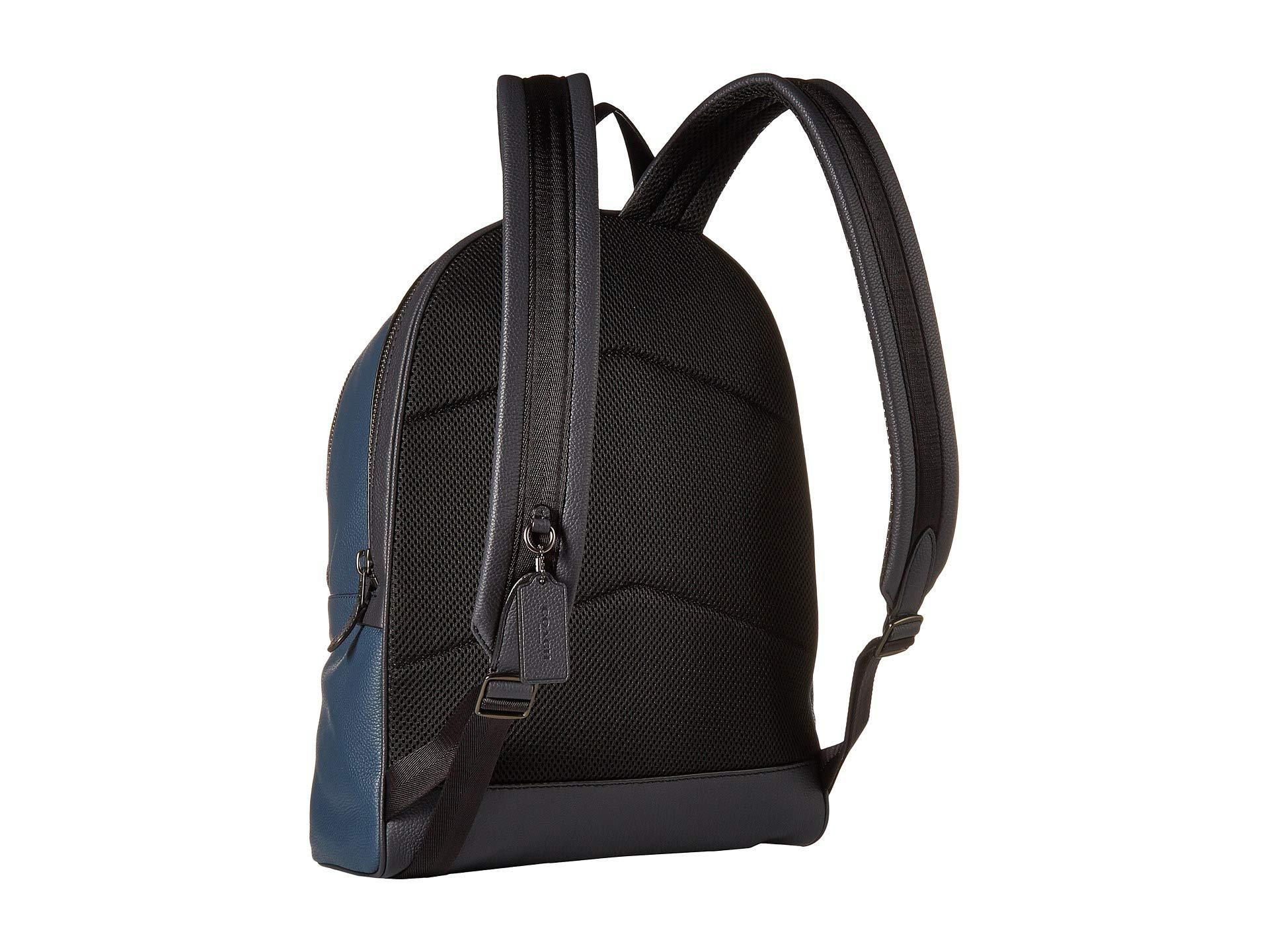 70588c0bfe COACH - Academy Backpack In Pebbled Leather (blue 1) Backpack Bags for Men  -. View fullscreen