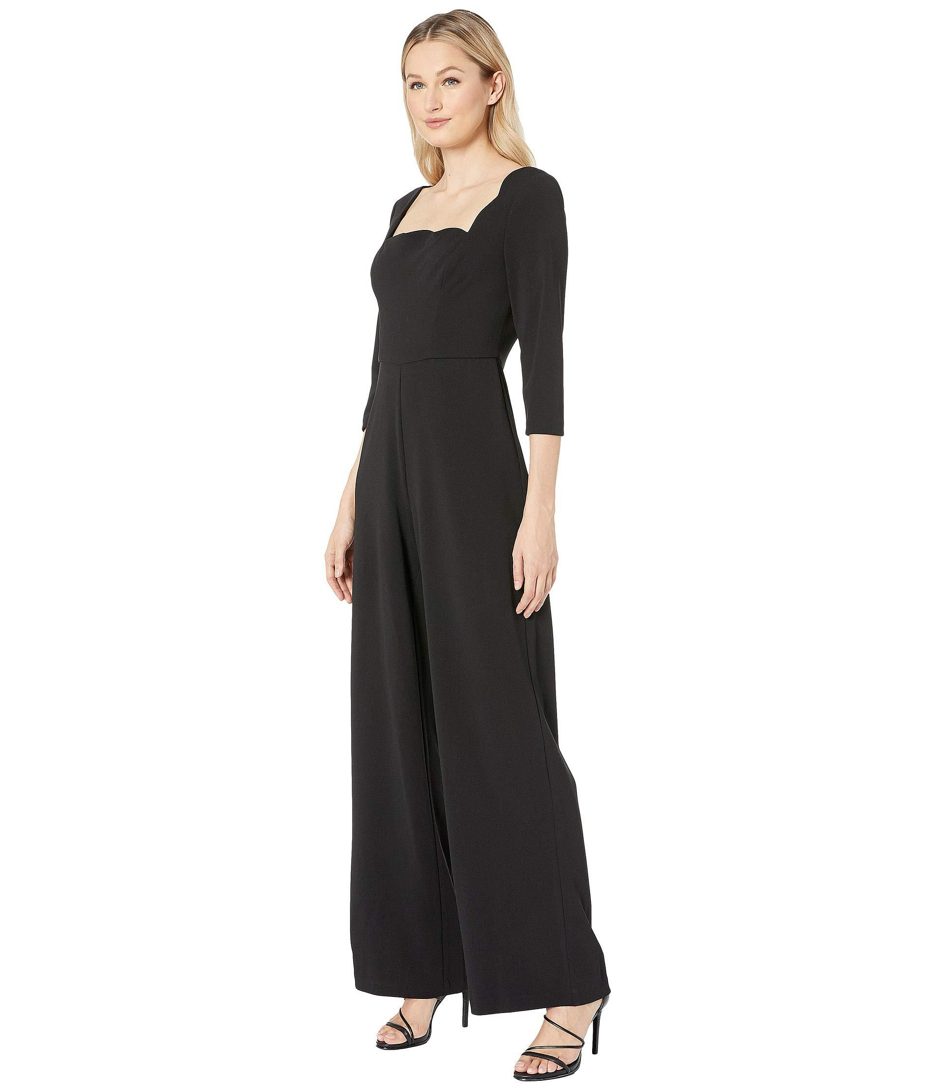 3ead6b2f1cee Lyst - Adrianna Papell Knit Crepe Scalloped Jumpsuit (black) Women s  Jumpsuit   Rompers One Piece in Black