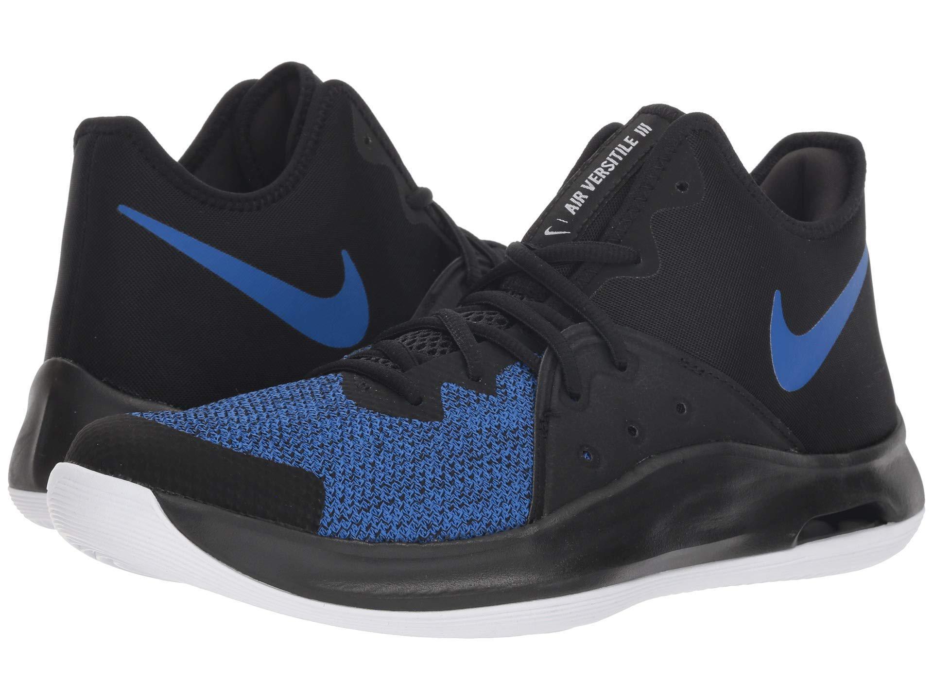 newest 65f99 35015 Nike Air Versitile Iii (black black white dark Grey) Basketball ...