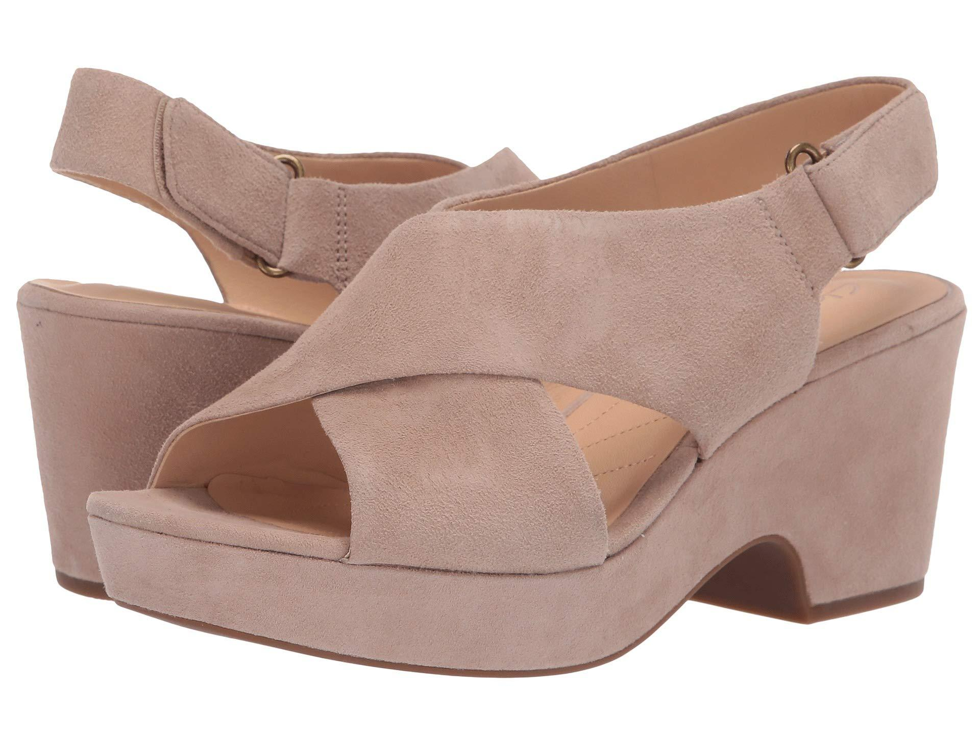 10c5ad776e3 Lyst - Clarks Maritsa Lara (sand Suede) Women s Wedge Shoes in Natural