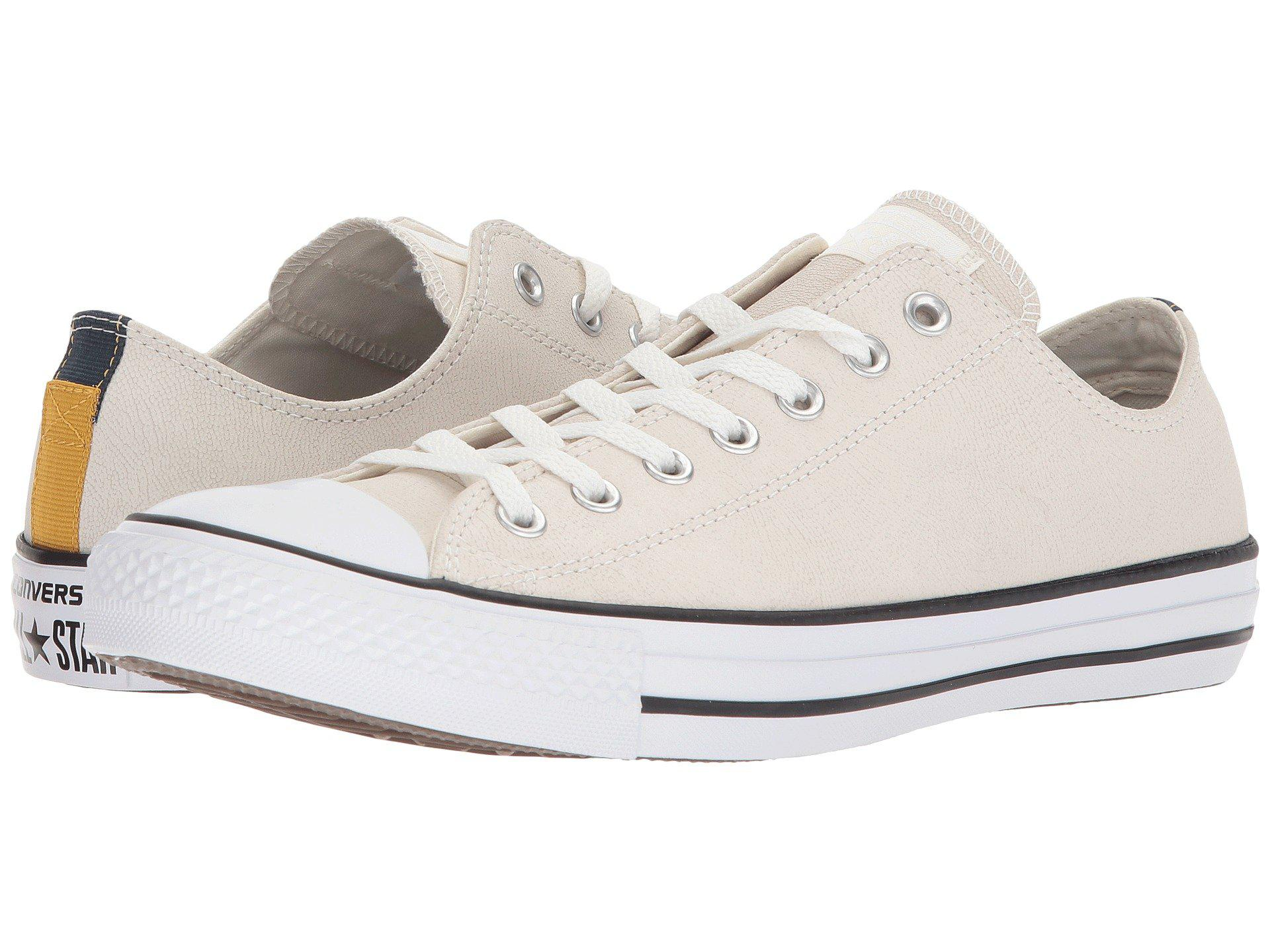 21ea2189947 Lyst - Converse Chuck Taylor® All Star® Fashion Leather Ox in White ...