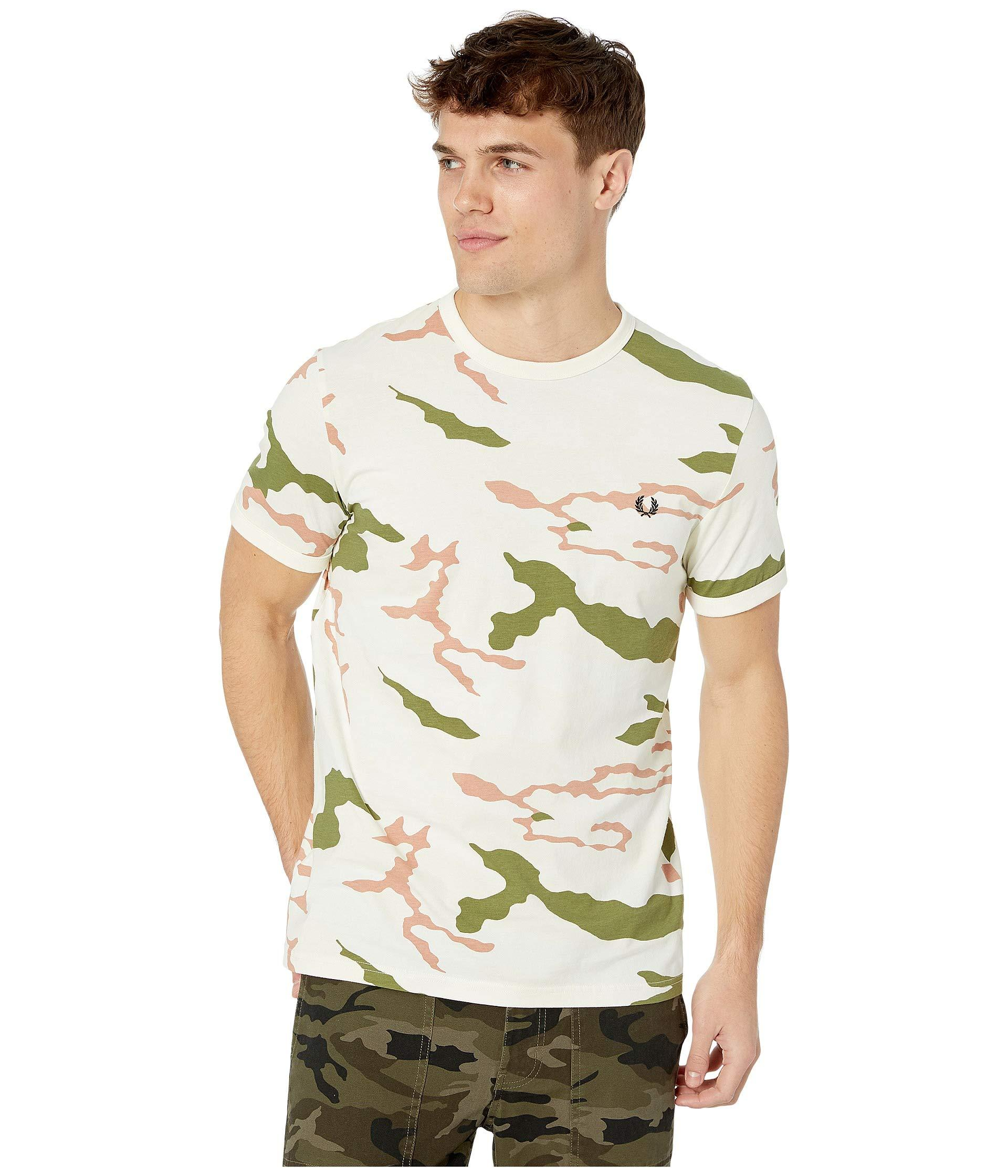 f4e7b946b Lyst - Fred Perry Camouflage T-shirt (tundra Camo) Men's Clothing in ...